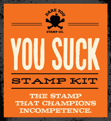 You Suck Stamp Kit