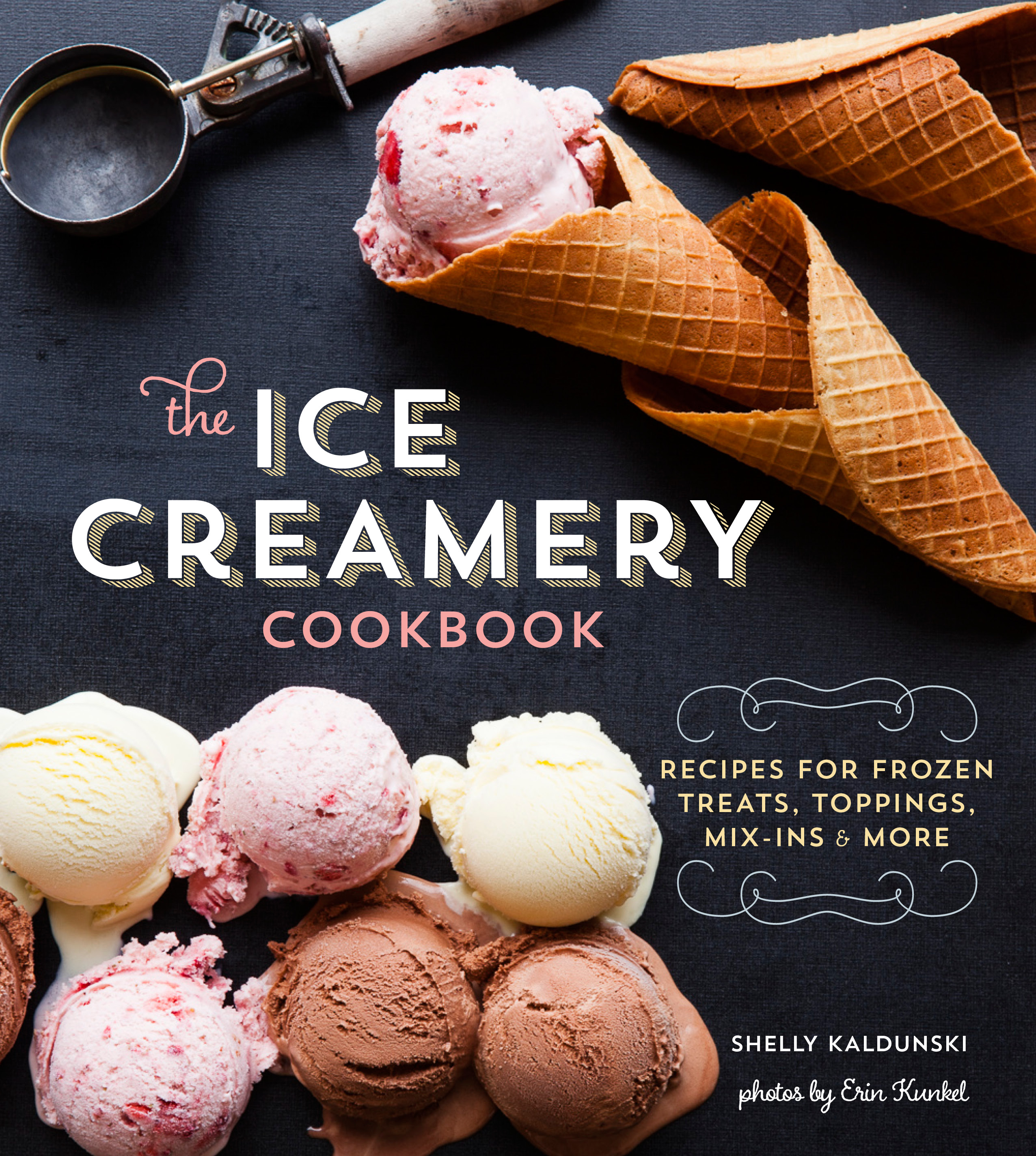 Cookbook Cover ~ The ice creamery cookbook book by shelly kaldunski official