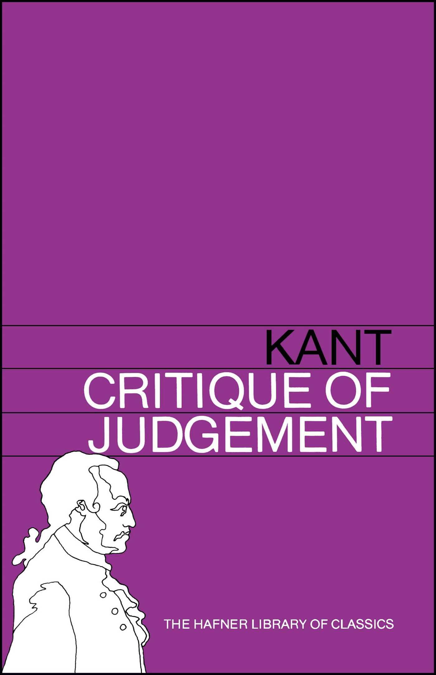 Critique of judgement 9780028475004 hr
