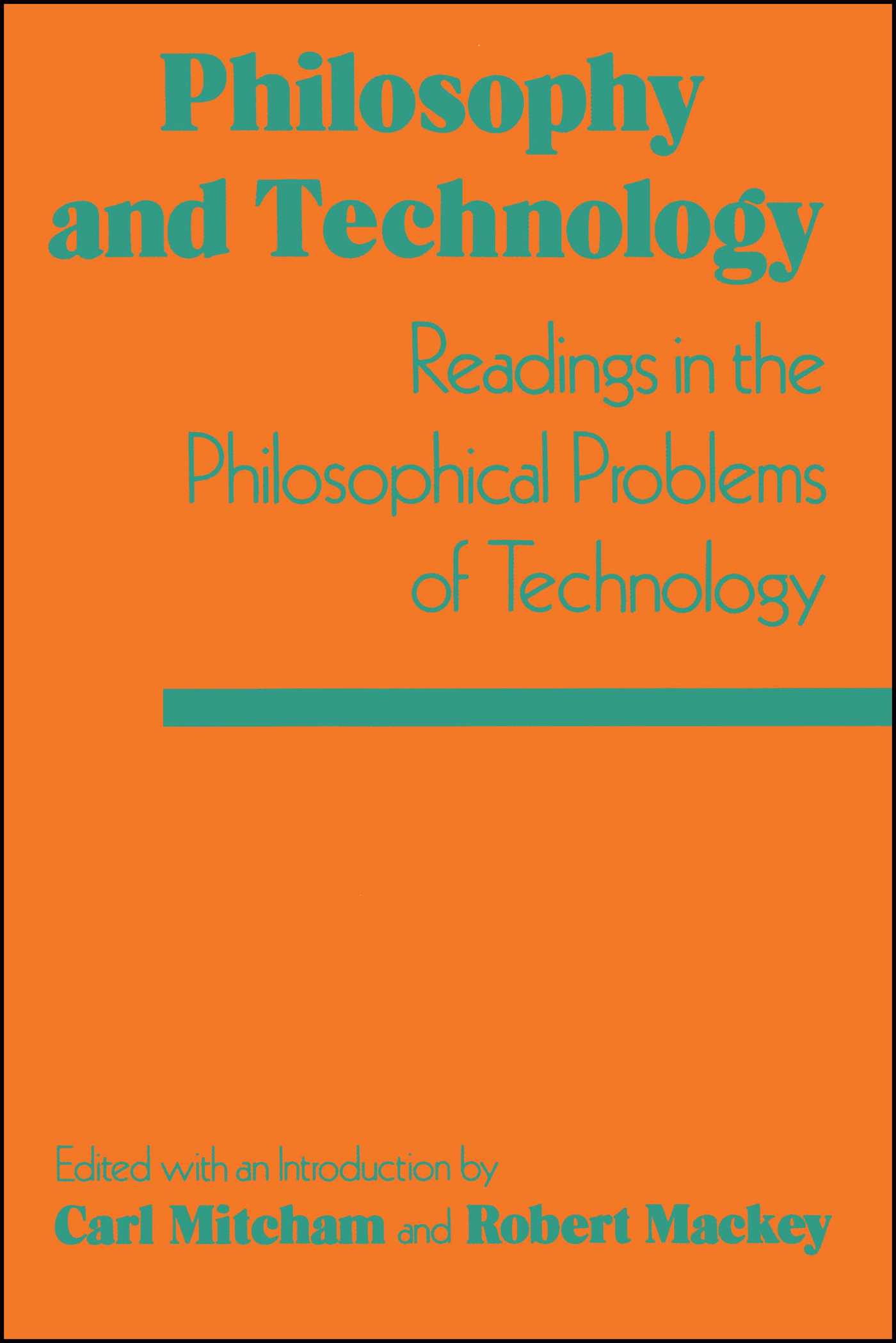 Philosophy and technology 9780029214305 hr