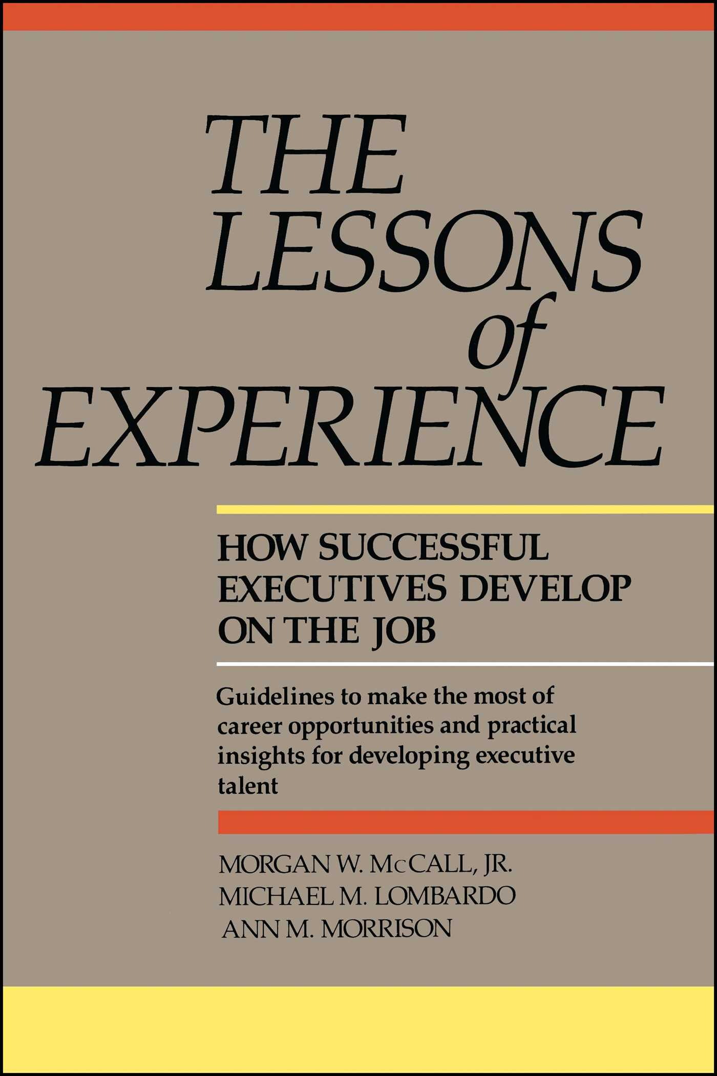 Lessons of experience 9780669180954 hr