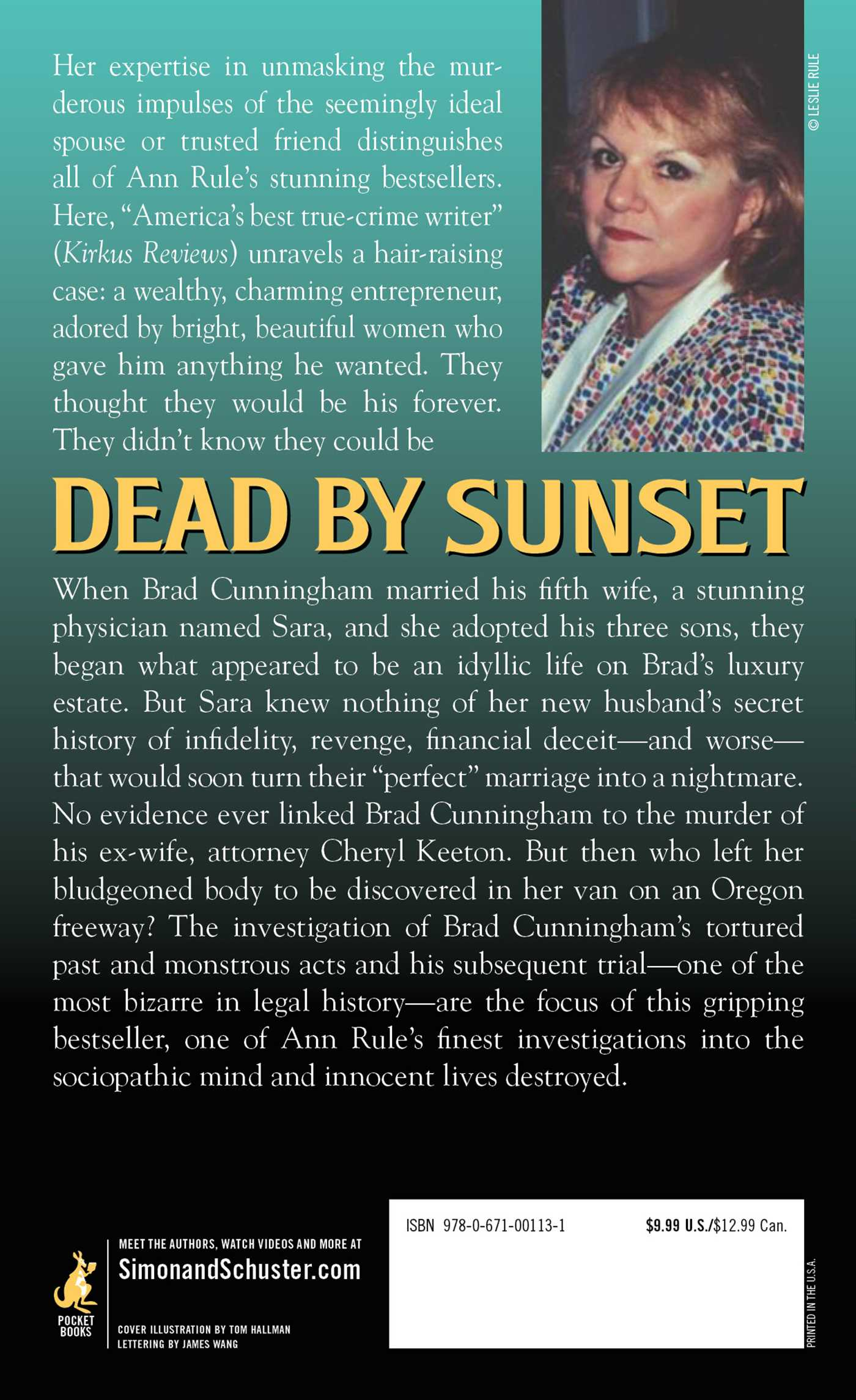 Dead by sunset 9780671001131 hr back