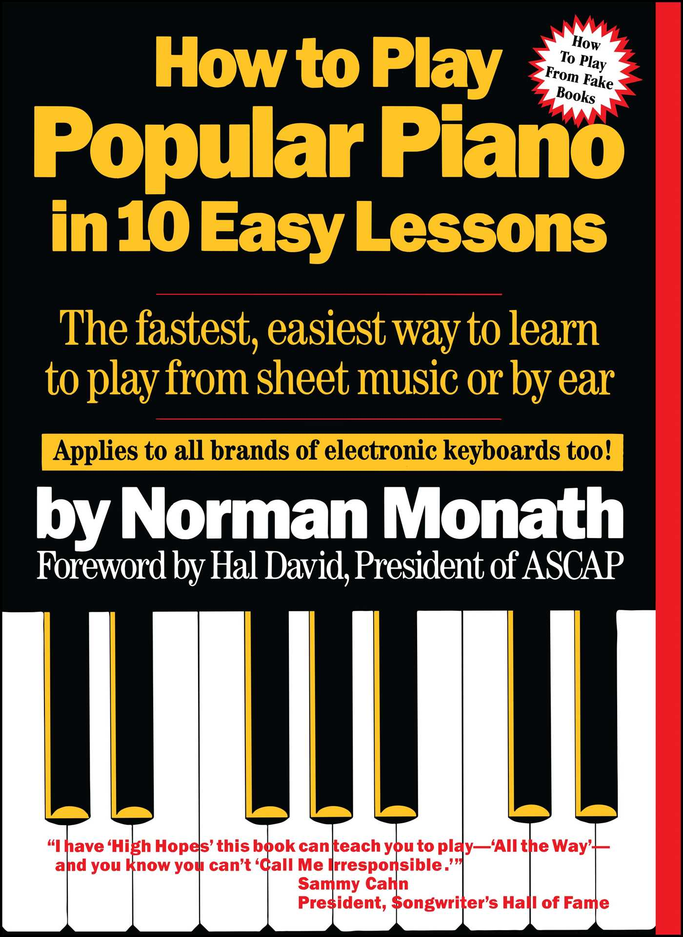 How to play popular piano in 10 easy lessons book by norman monath how to play popular piano in 10 easy lessons 9780671530679 hr fandeluxe Images