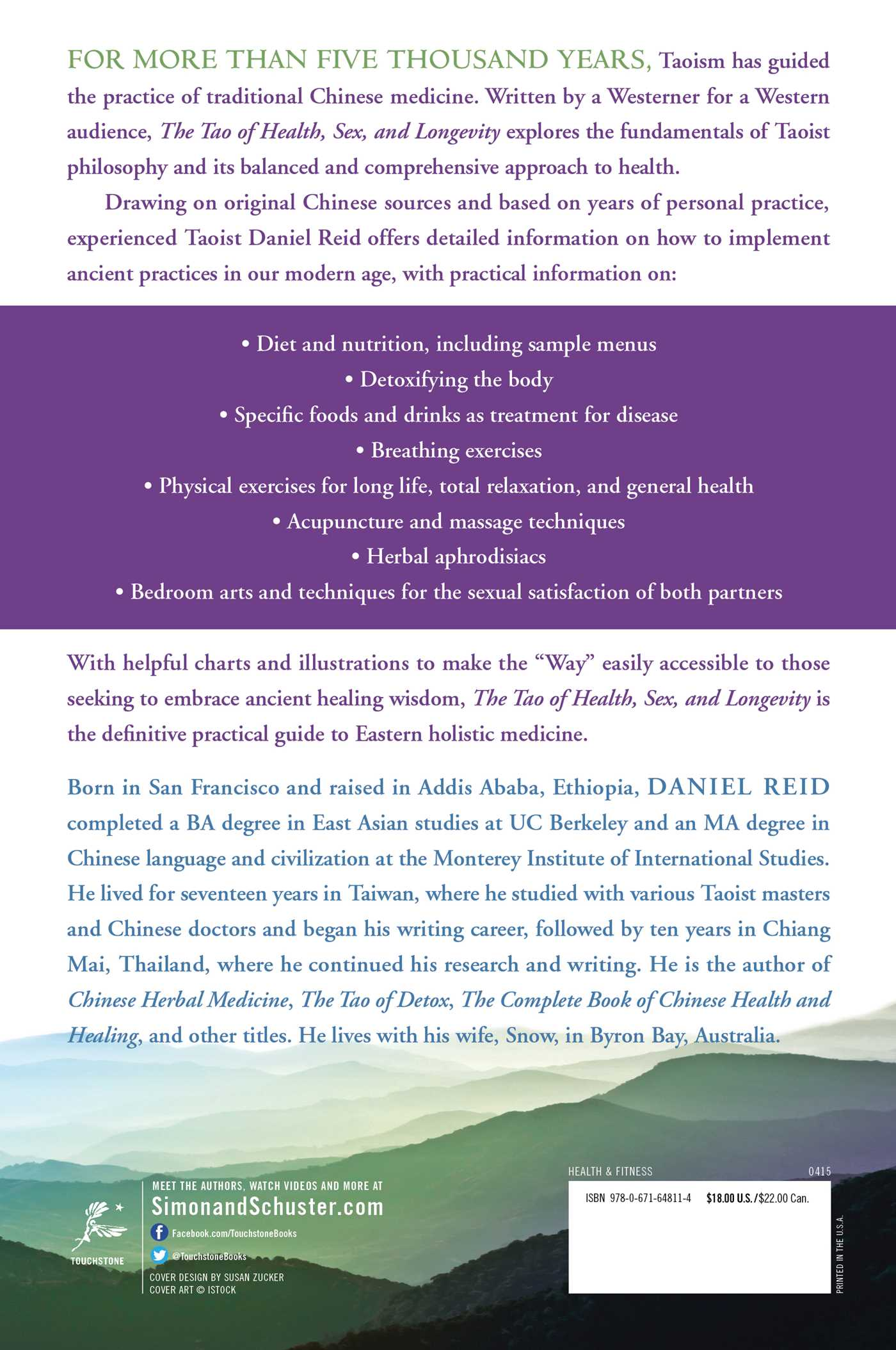 The Tao Of Health, Sex, and Longevity Book di Daniel Reid Pagina ufficiale dell'editore-9278
