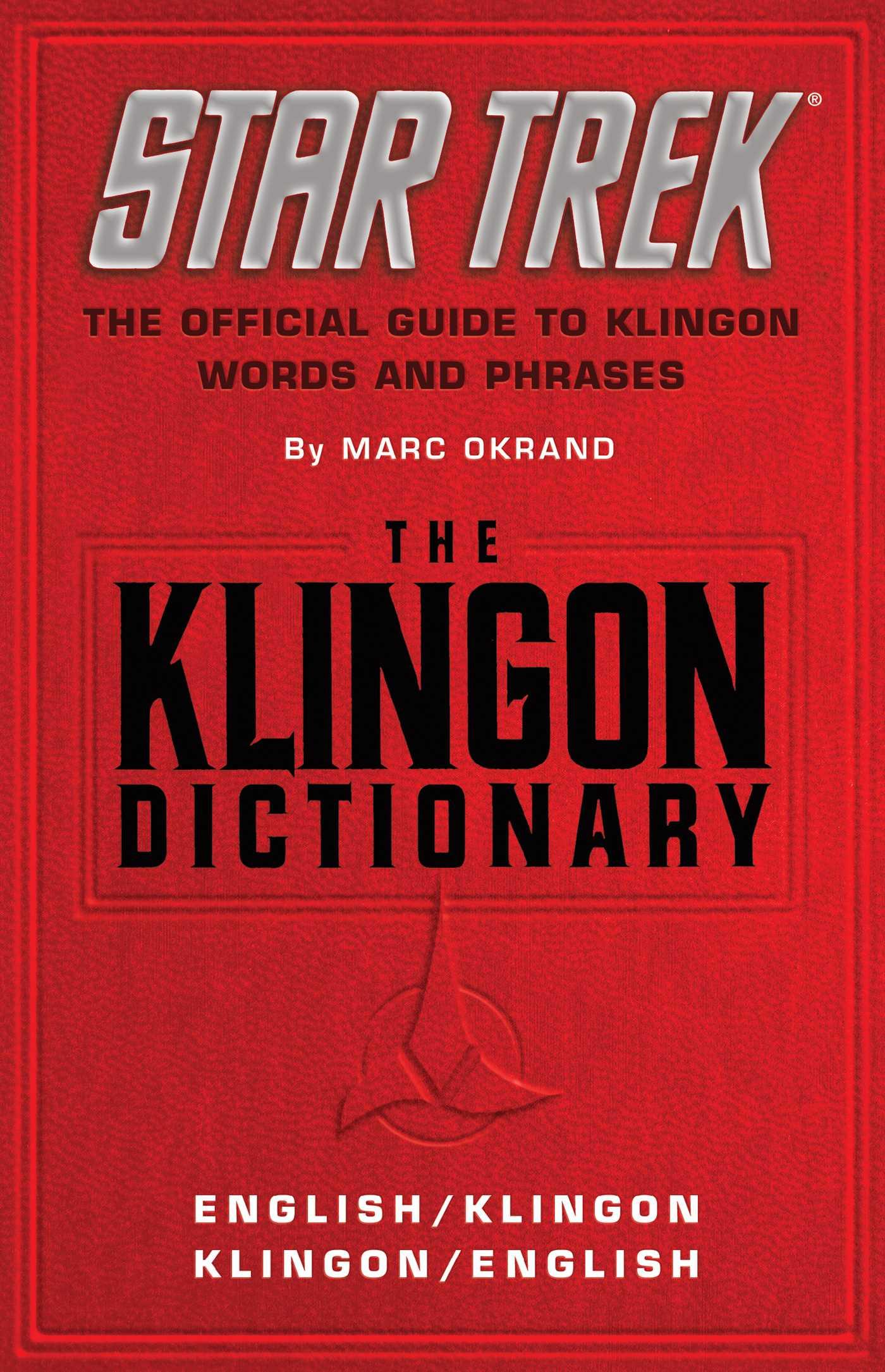 The klingon dictionary 9780671745592 hr