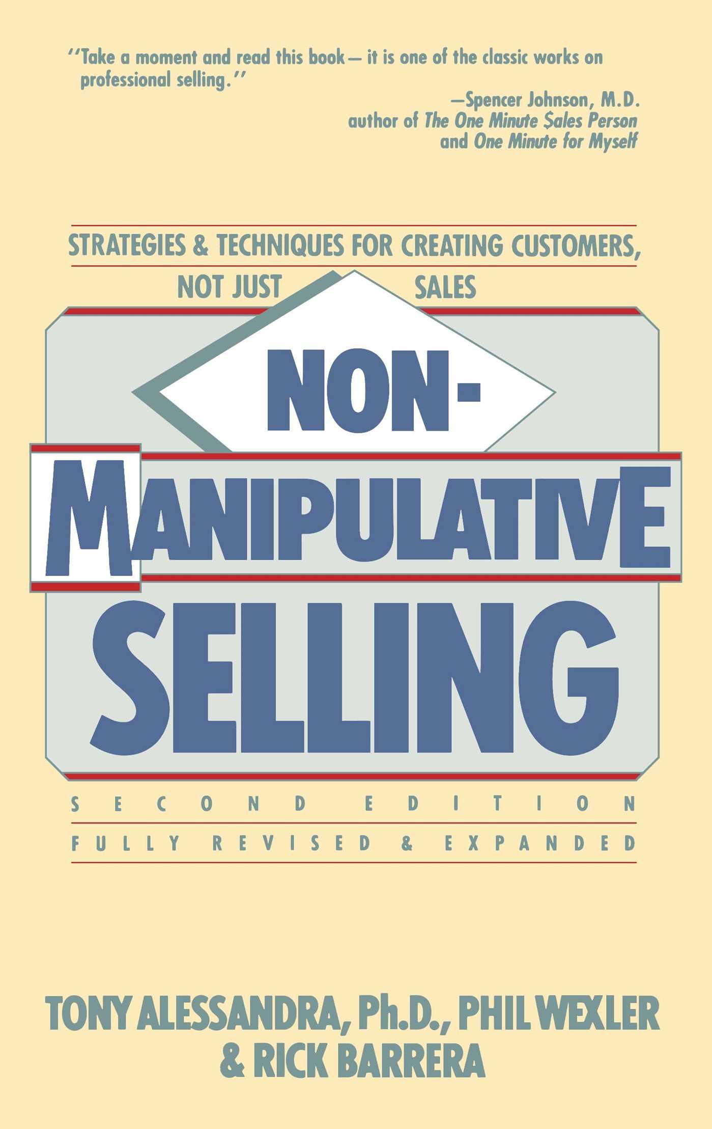 Non manipulative selling 9780671764487 hr