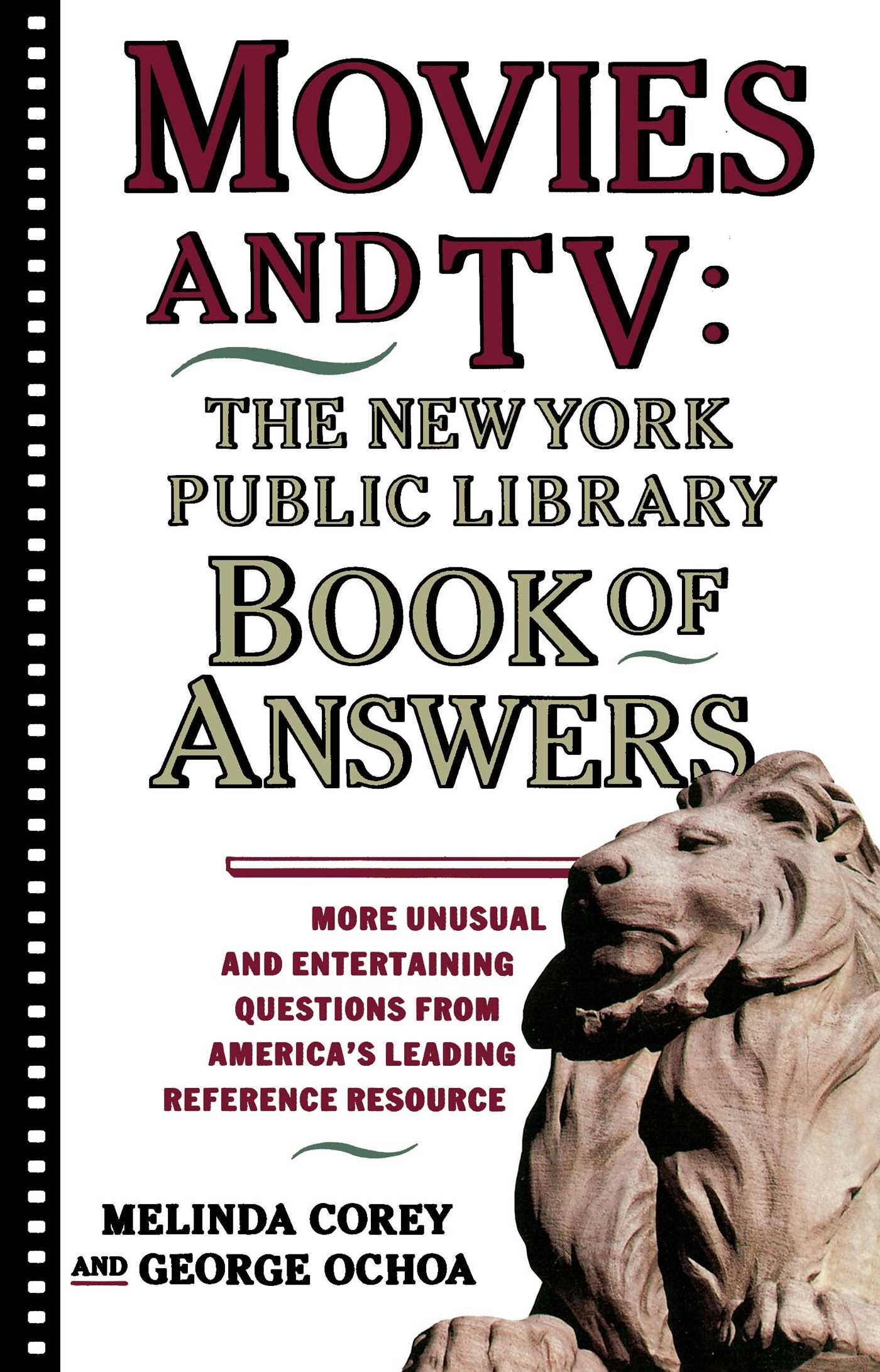 Movies and tv the new york public library book of answers 9780671775384 hr