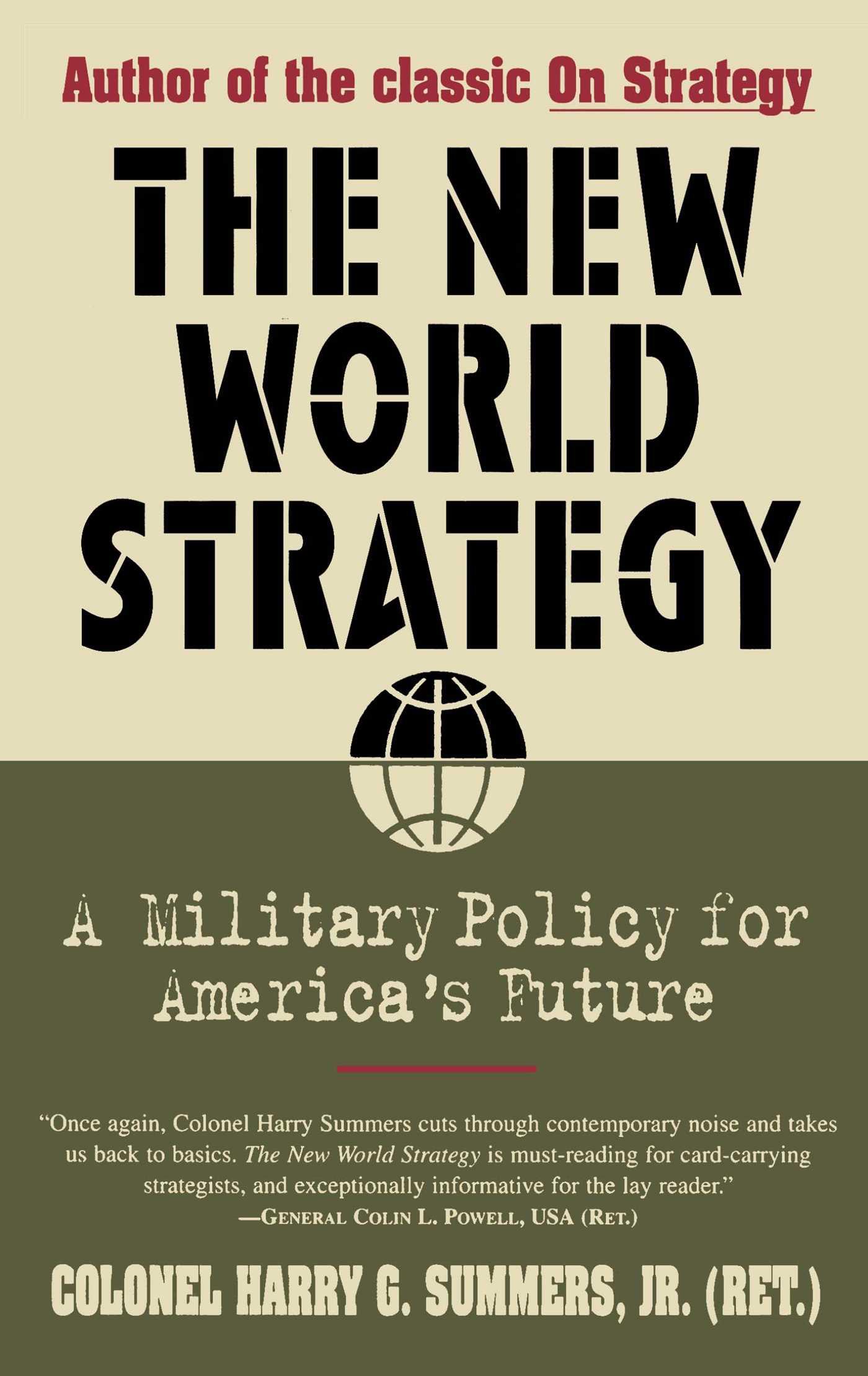 New world strategy 9780684812083 hr