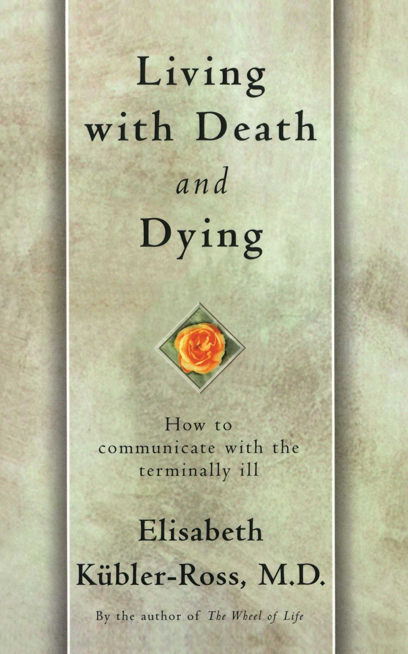 Book Cover Image (jpg): Living with Death and Dying