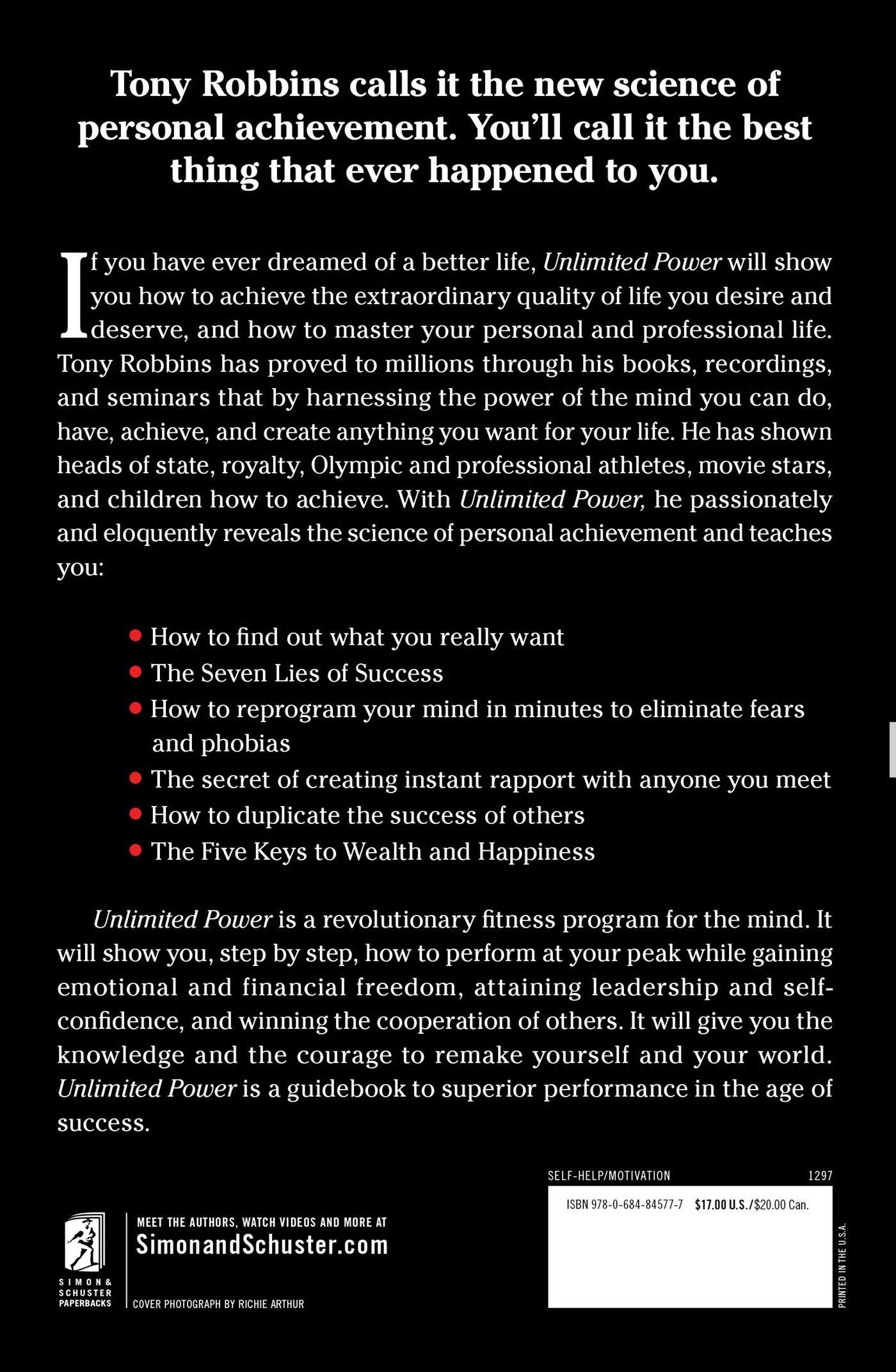 Unlimited power book by tony robbins official publisher page unlimited power book by tony robbins official publisher page simon schuster fandeluxe Gallery