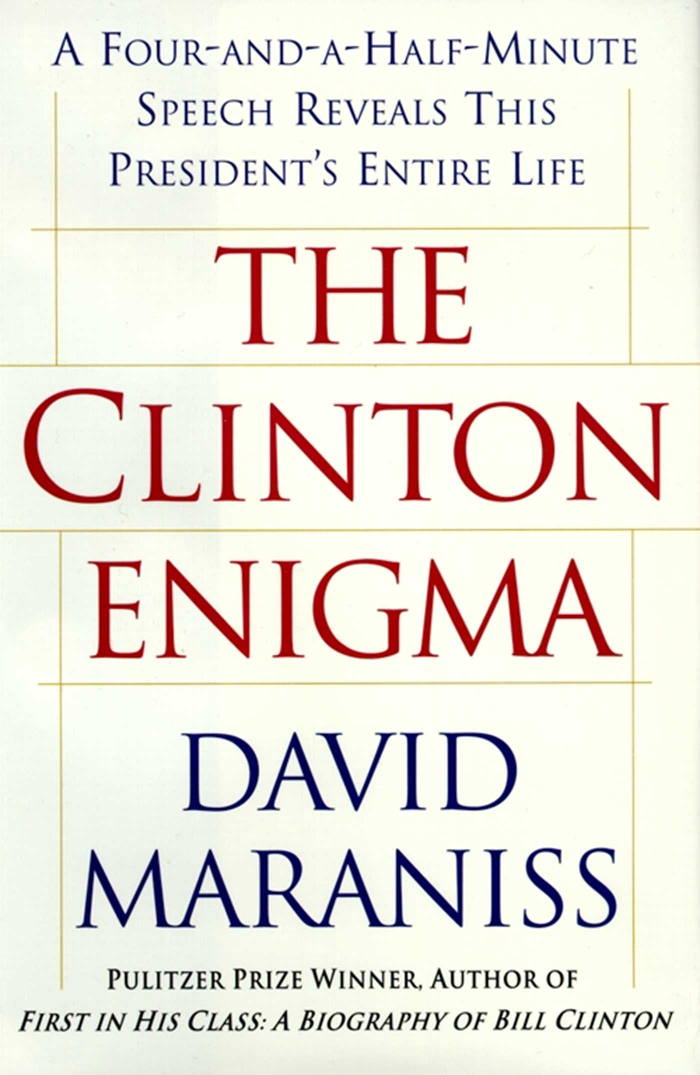 The clinton enigma 9780684865836 hr