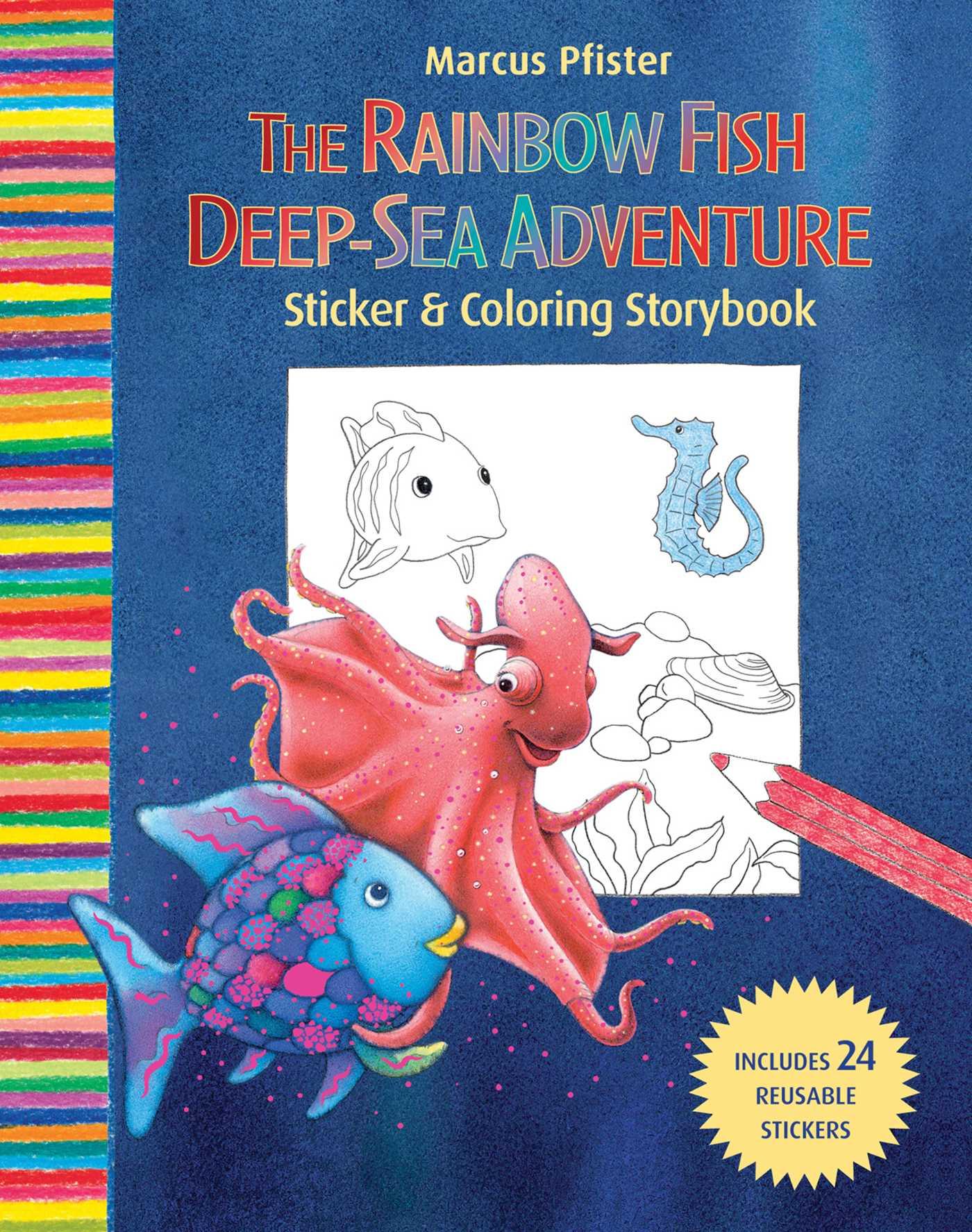 Rainbow Fish Deep Sea Adventure Sticker and Coloring Storybook ...