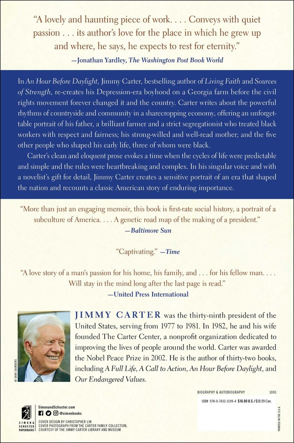 An Hour Before Daylight | Book by Jimmy Carter | Official ...