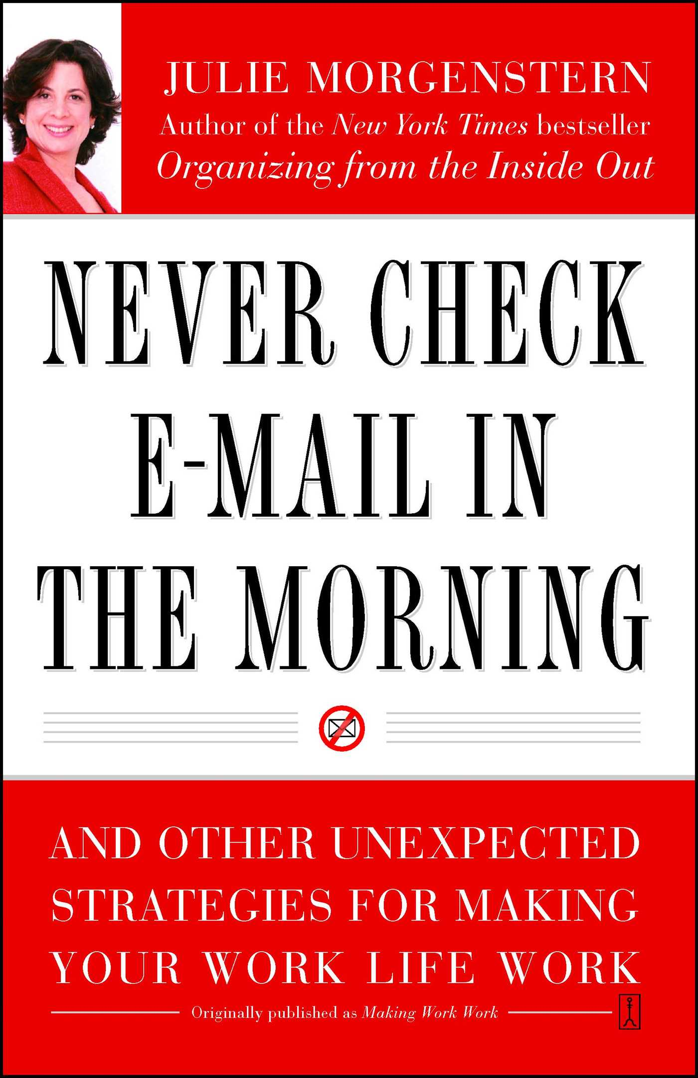 Never check e mail in the morning 9780743250887 hr