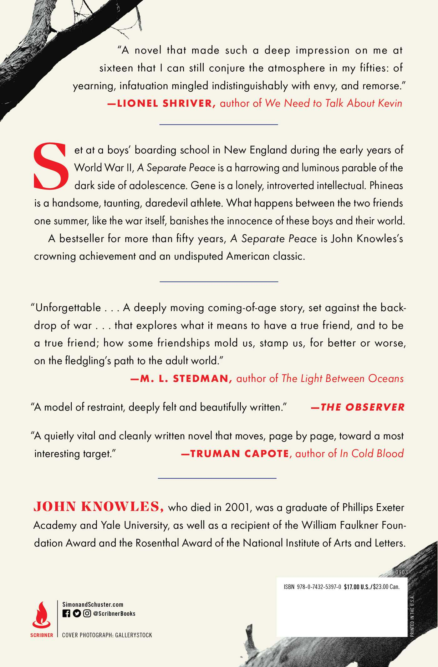 A Separate Peace Book By John Knowles Official Publisher Page