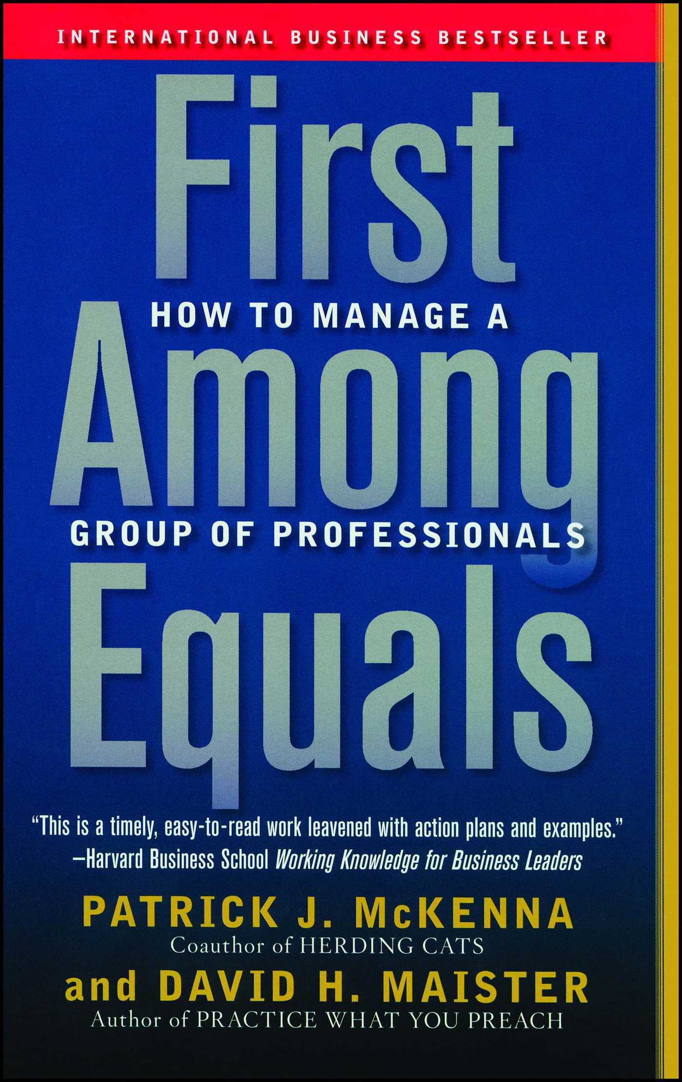 First among equals 9780743267588 hr