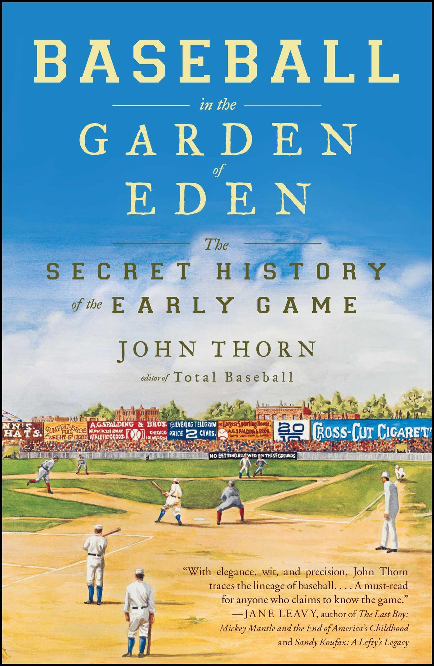 Baseball in the garden of eden 9780743294041 hr