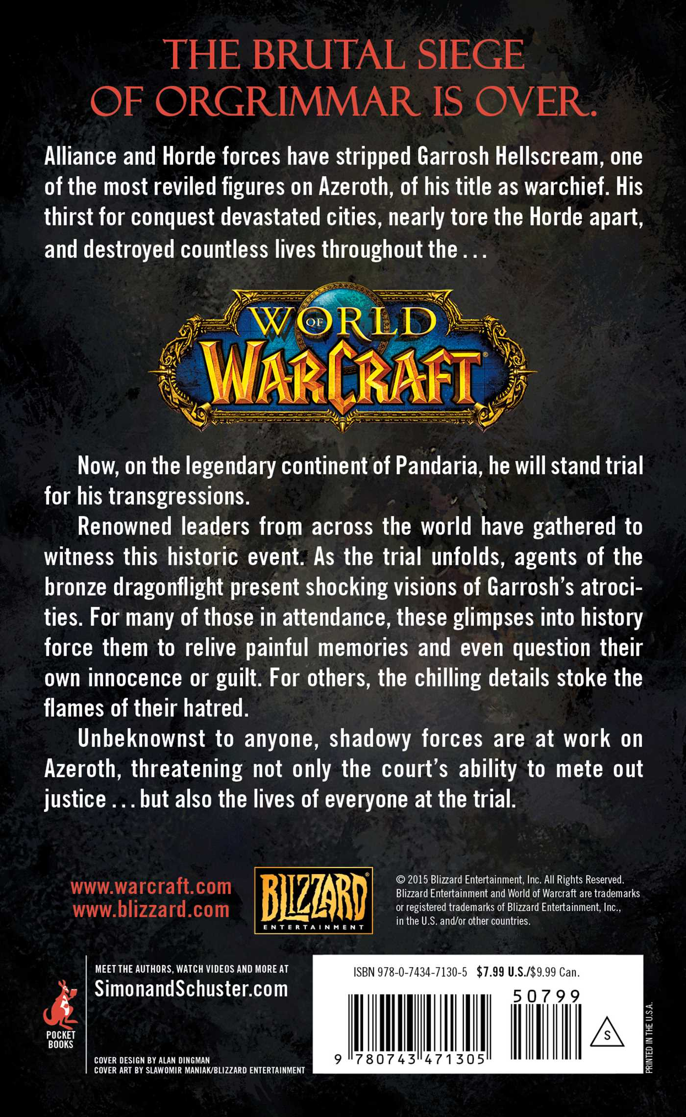 World of warcraft war crimes 9780743471305 hr back
