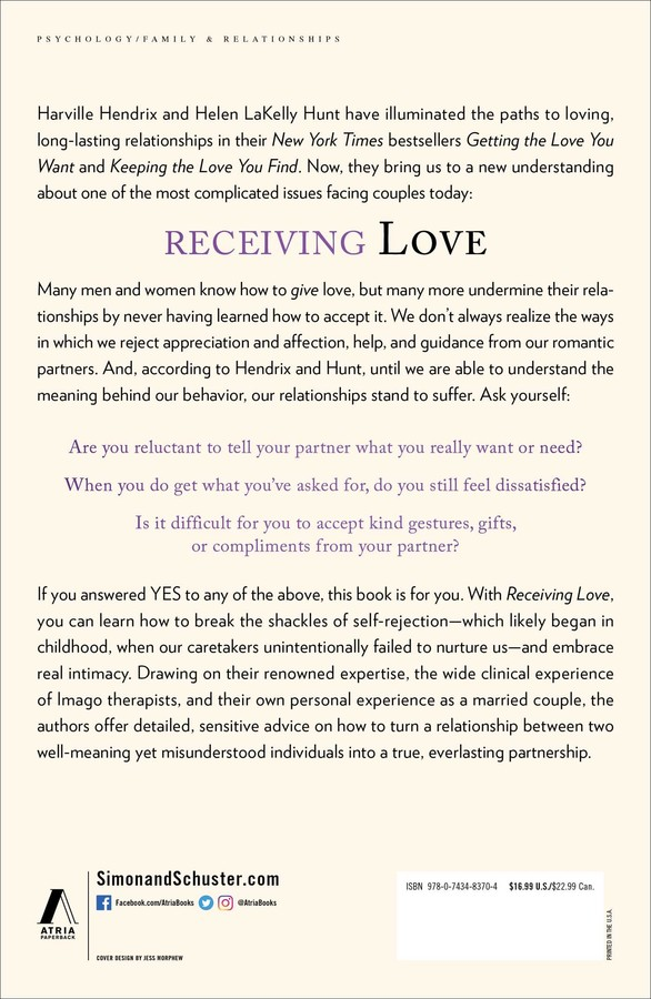 Receiving Love | Book by Harville Hendrix, Helen LaKelly