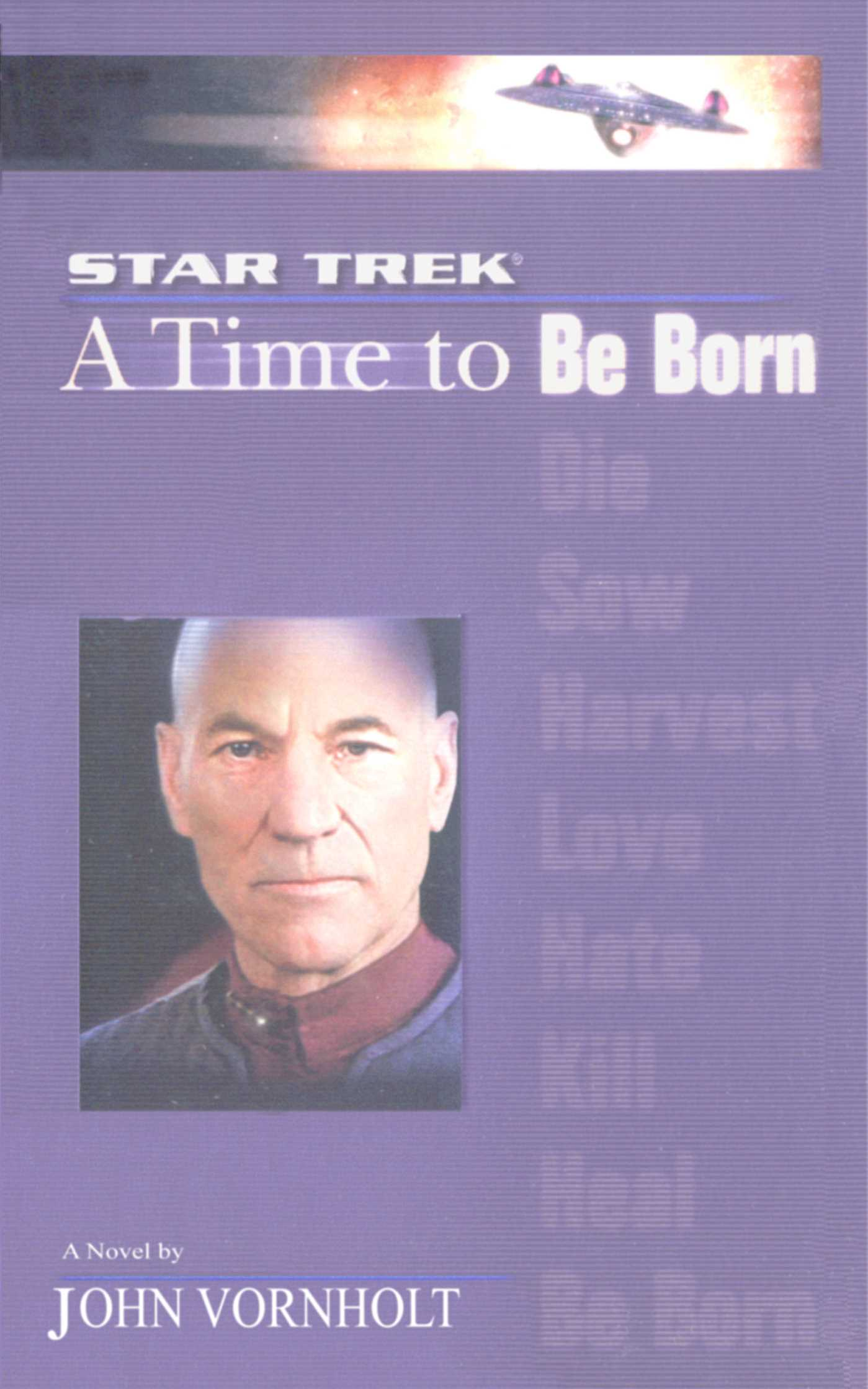 A star trek the next generation time 1 a time to be born 9780743491495 hr