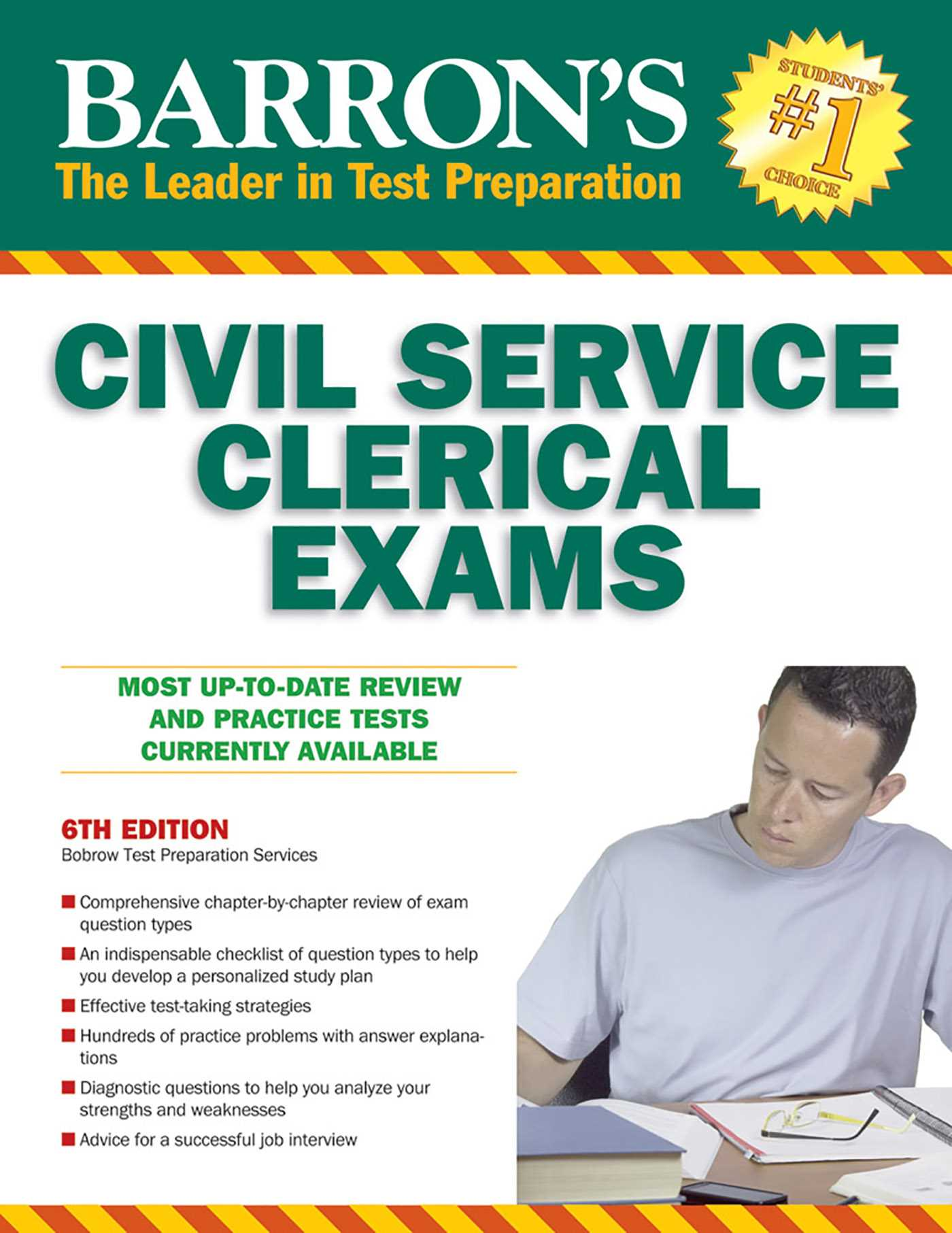 Barrons civil service clerical exam 9780764143021 hr