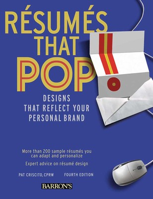 resumes that pop book by pat criscito cprw official publisher