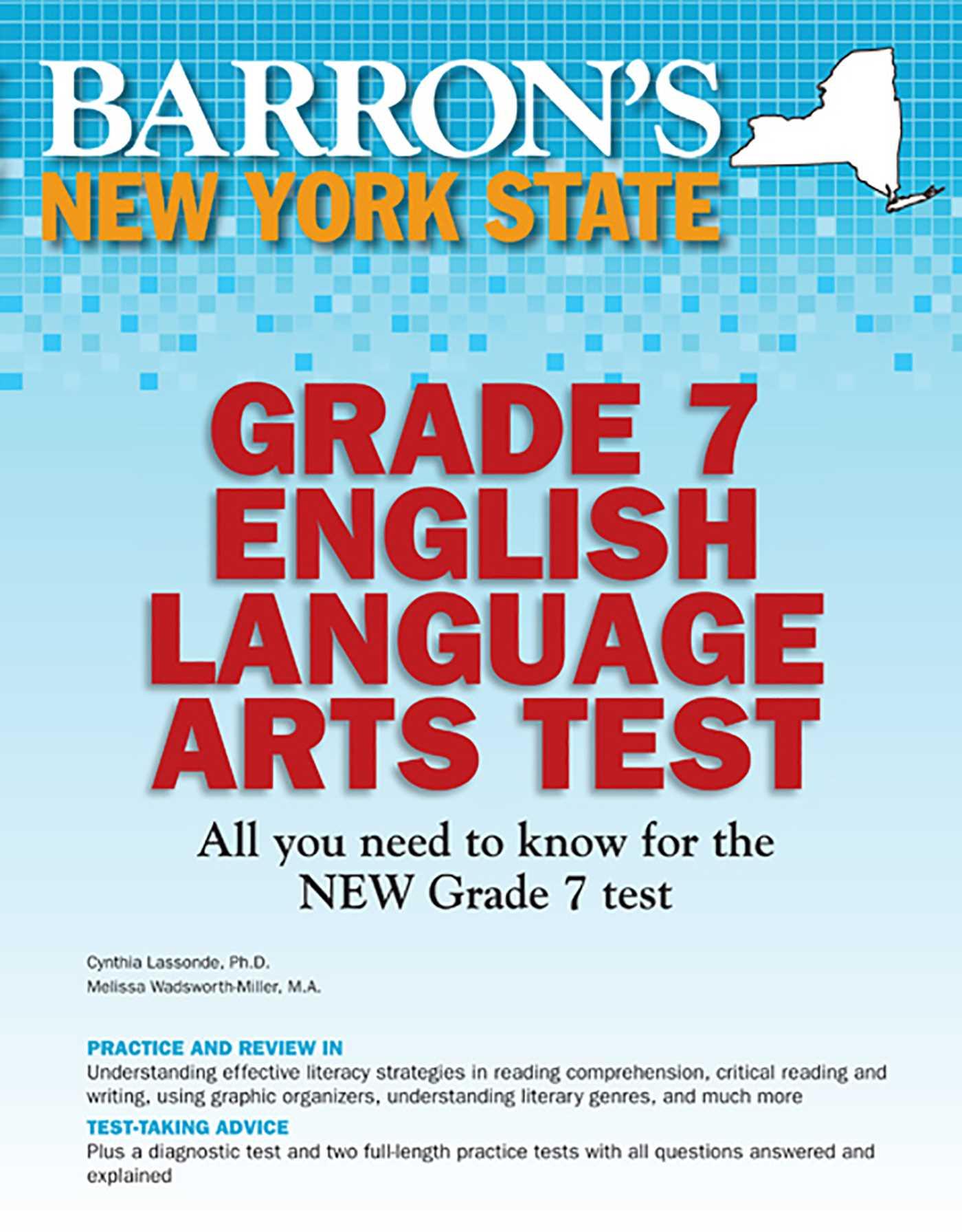 Barron's New York State Grade 7 English Language Arts Test   Book by