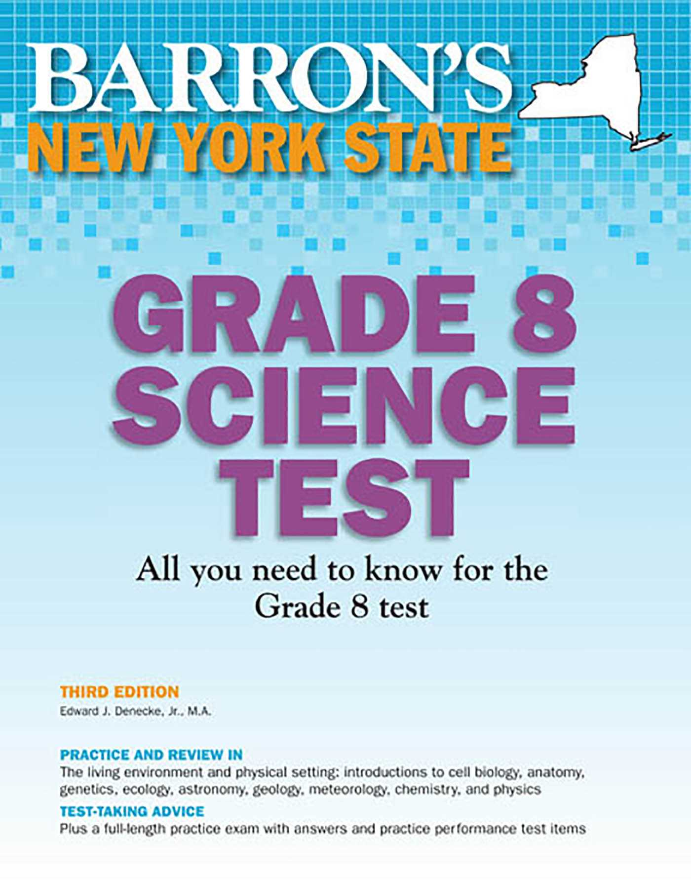 Barron's New York State Grade 8 Science Test   Book by