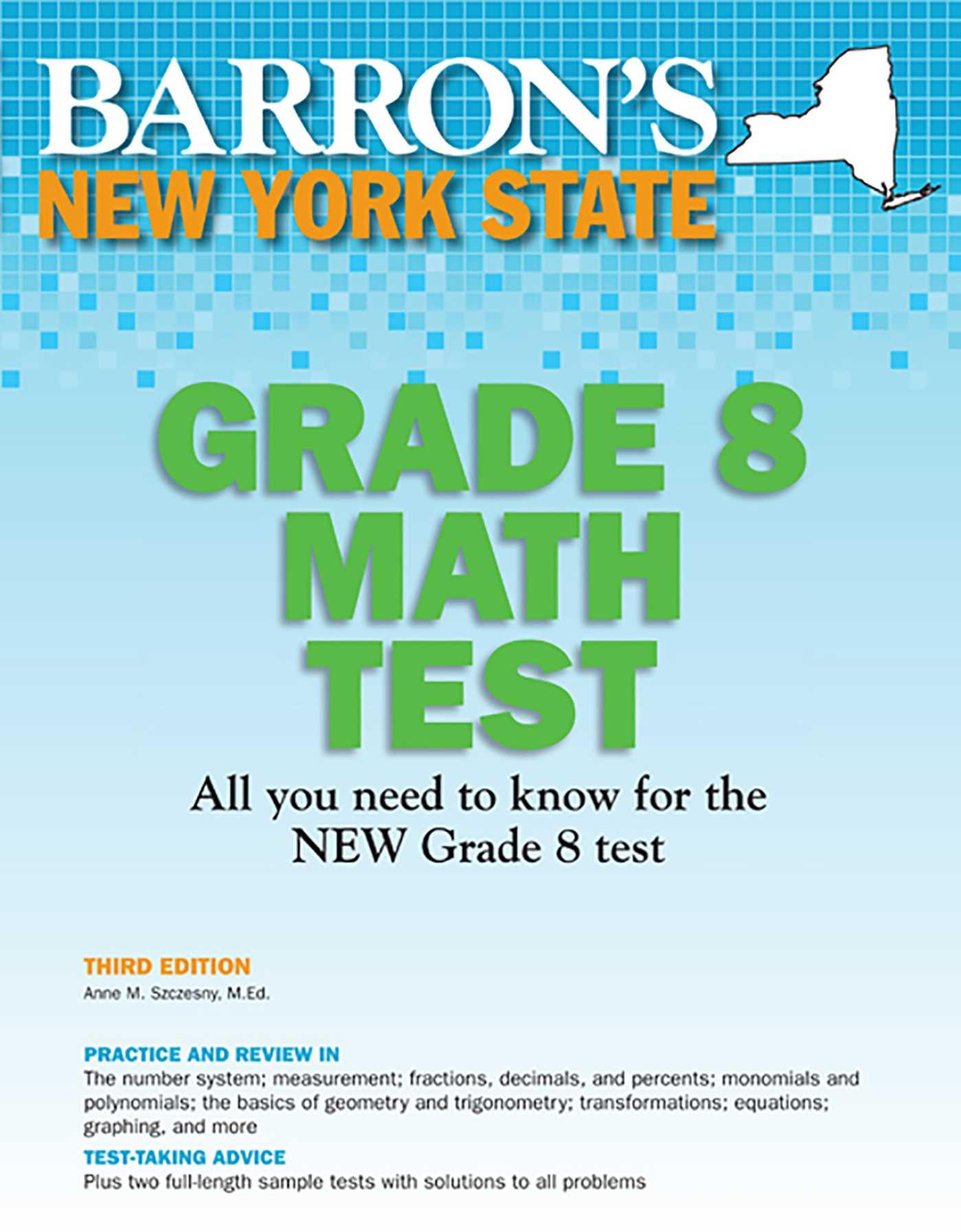 Barron's New York State Grade 8 Math Test | Book by Anne M  Szczesny