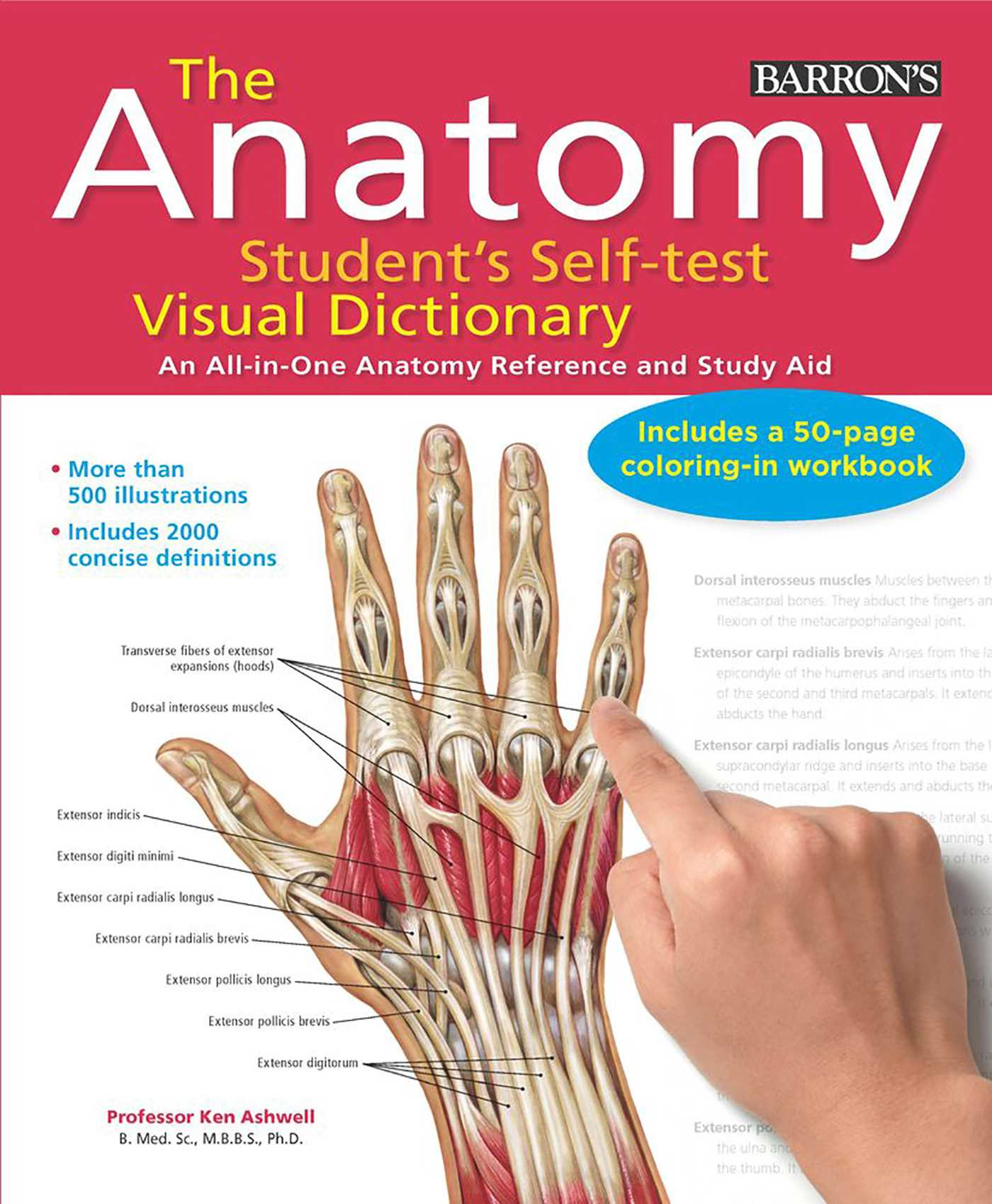Anatomy Students Self Test Visual Dictionary Book By Ken Ashwell