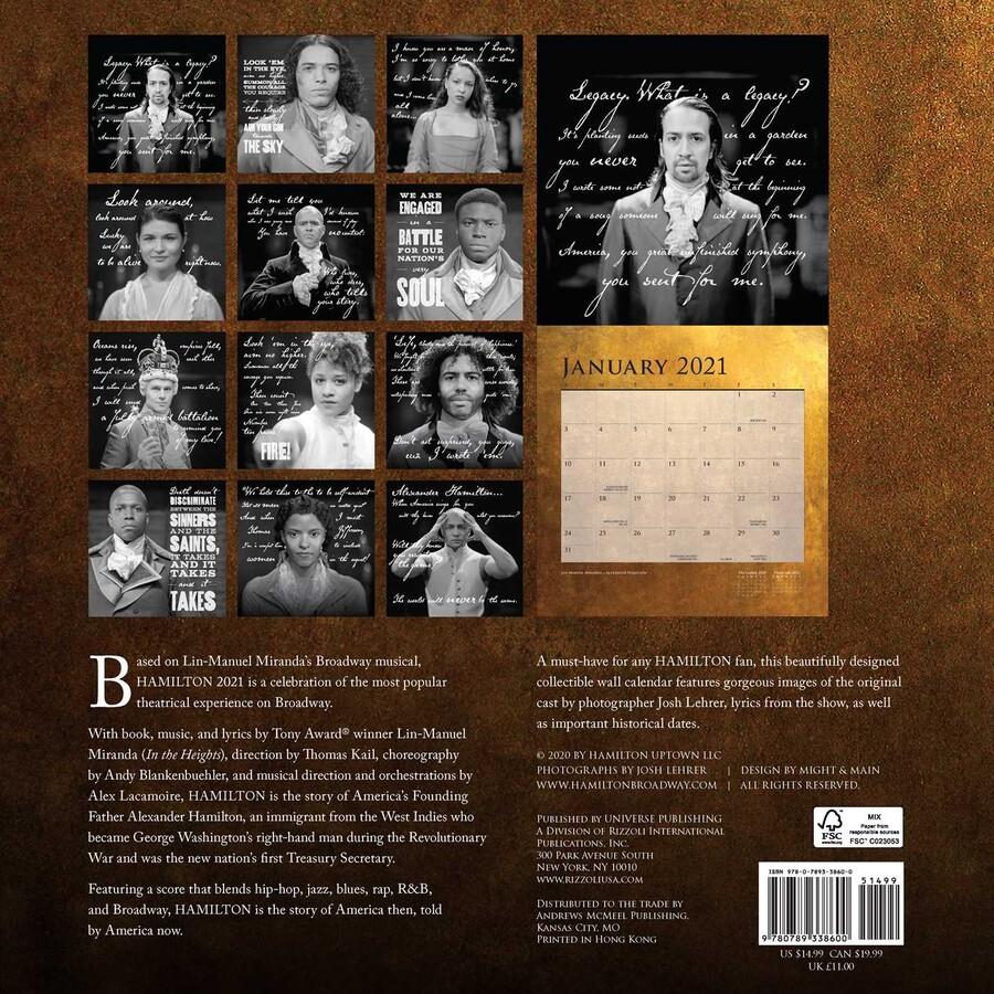 Hamilton 2021 Wall Calendar   Book Summary & Video | Official