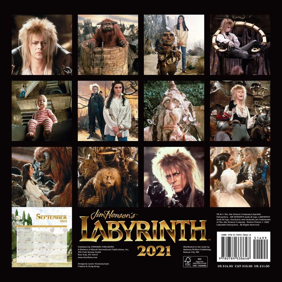 Jim Henson's Labyrinth 2021 Wall Calendar   Book Summary & Video