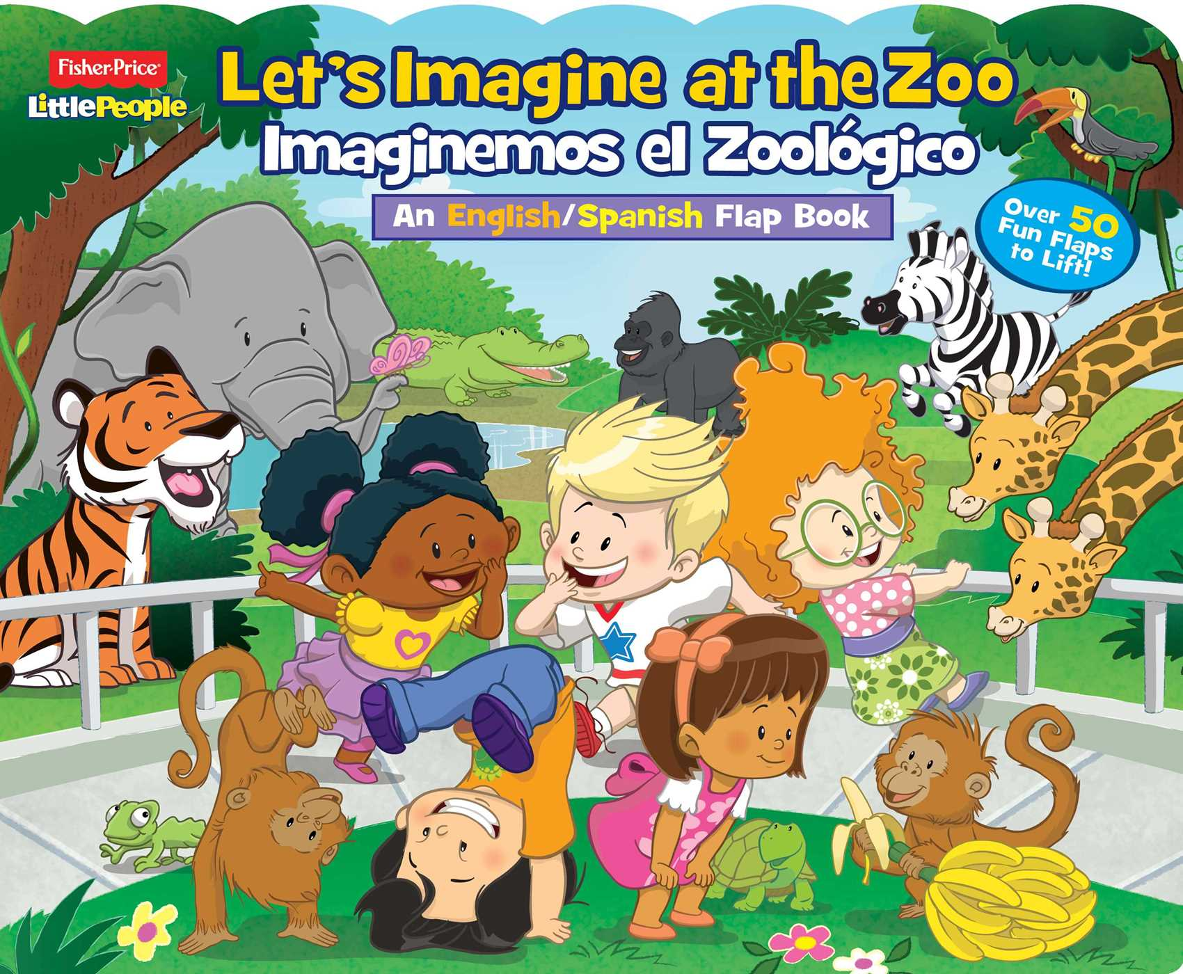 Fisher price little people lets imagine at the zooimaginemos el fisher price little people lets imagine at the zoo imaginemos el zoologico 9780794435592 hr fandeluxe Image collections