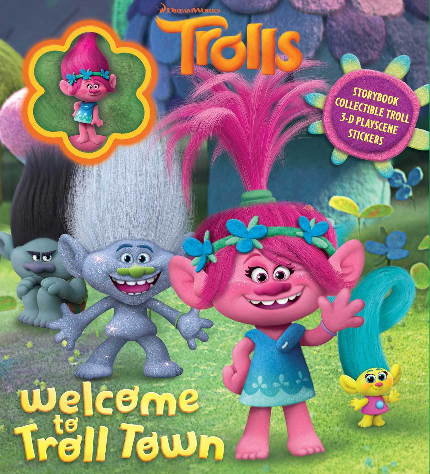 Dreamworks Trolls Welcome To Troll Town Book By