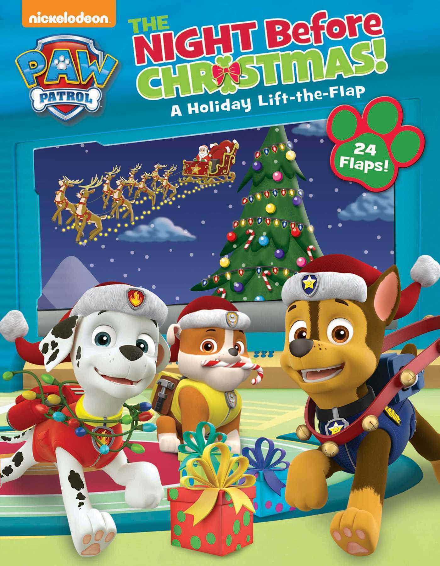 paw patrol the night before christmas 9780794441371 hr