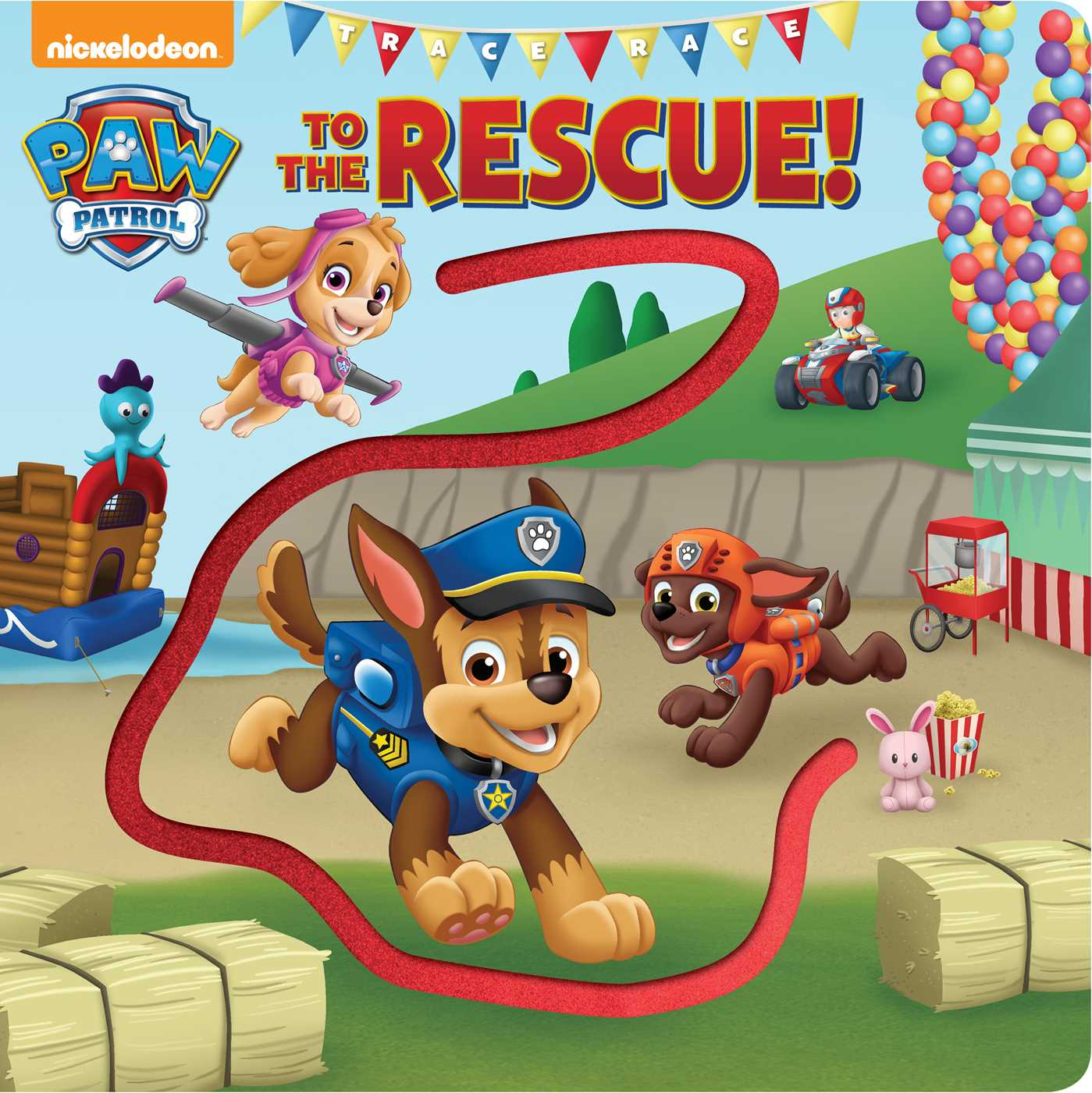 Paw patrol trace race to the rescue 9780794441708 hr