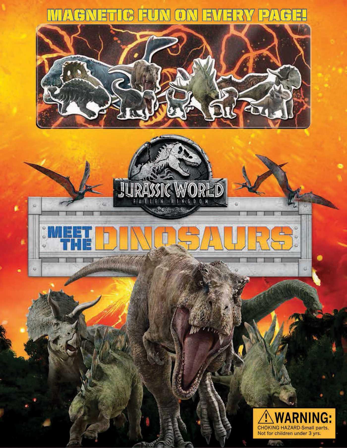 Jurassic world fallen kingdom magnetic hardcover meet the dinosaurs 9780794441951 hr