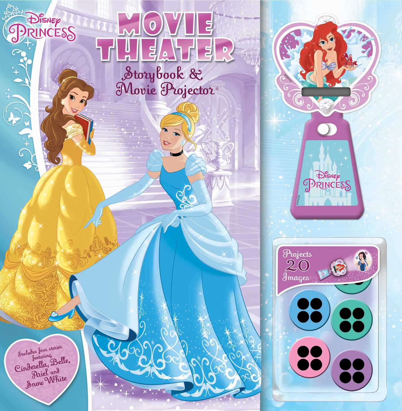 Disney princess movie theater storybook movie projector book by disney princess movie theater storybook movie projector 9780794442156 hr altavistaventures Image collections