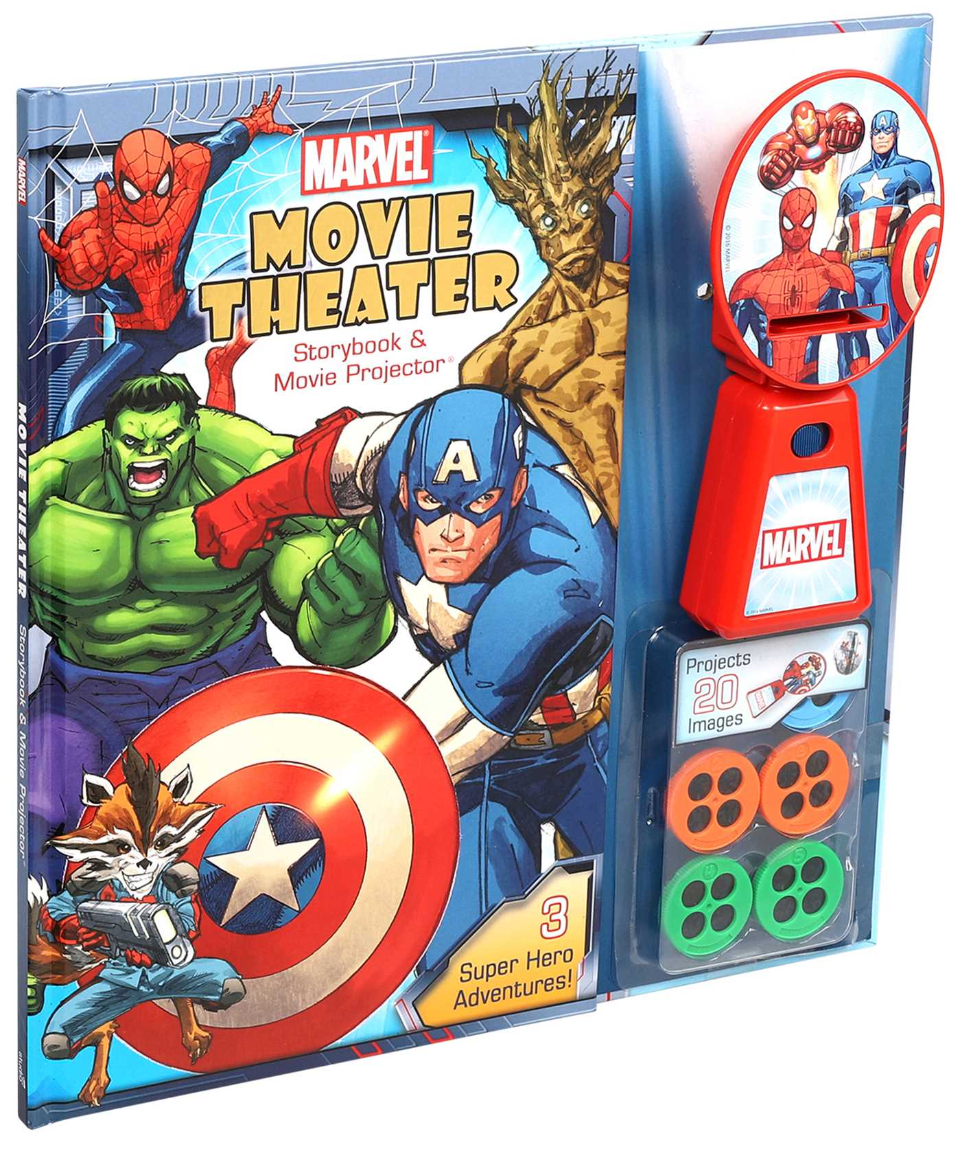 Marvel movie theater storybook movie projector 9780794442163 hr