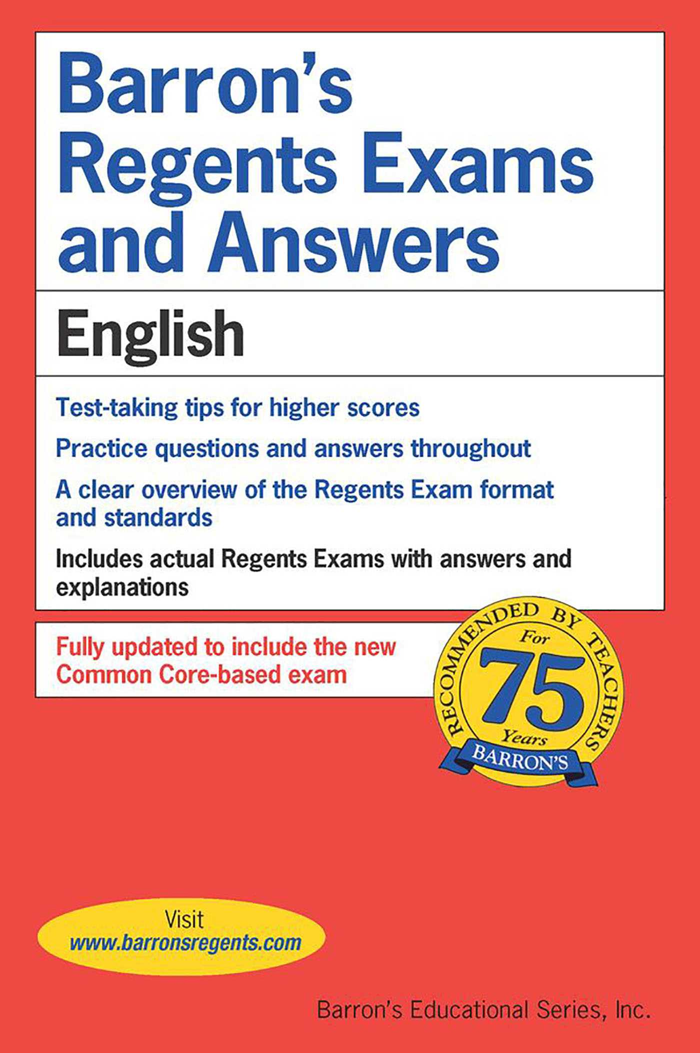 Regents Exams and Answers: English | Book by Carol Chaitkin