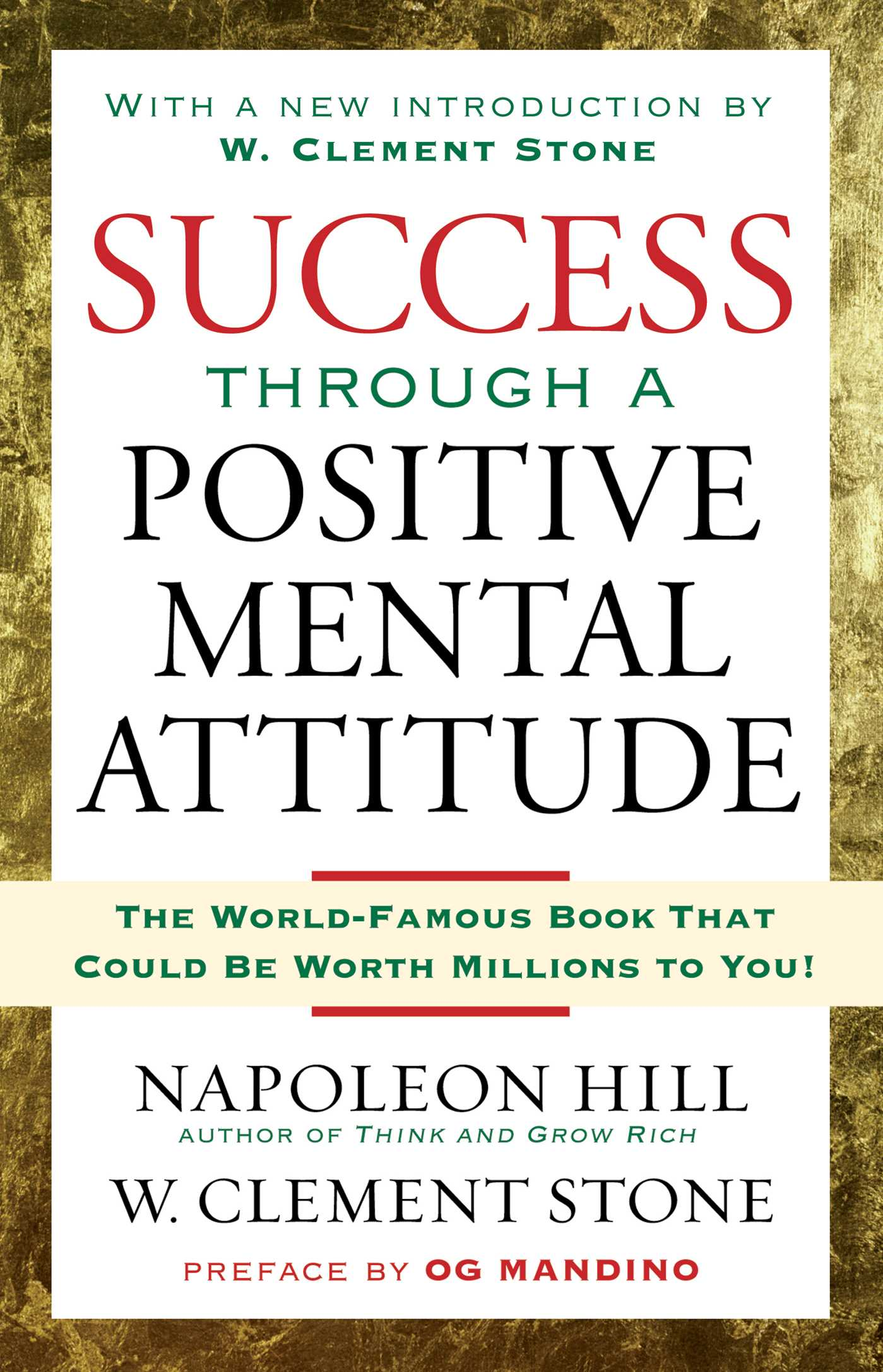 Success through a positive mental attitude 9781416541592 hr