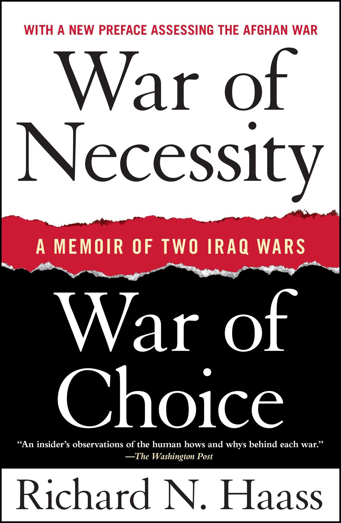 War of necessity war of choice 9781416549031 hr