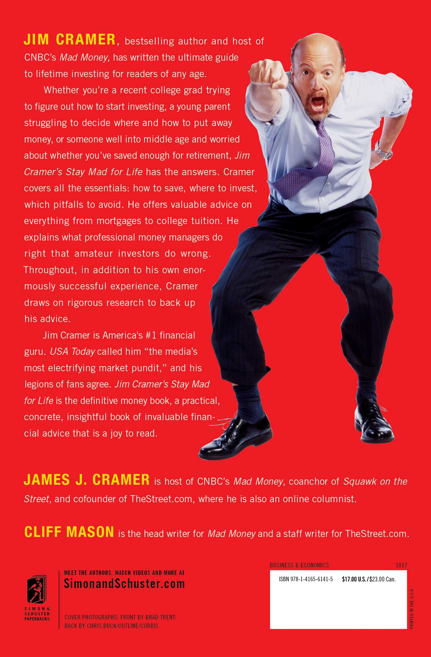Jim cramers stay mad for life 9781416561415 hr back