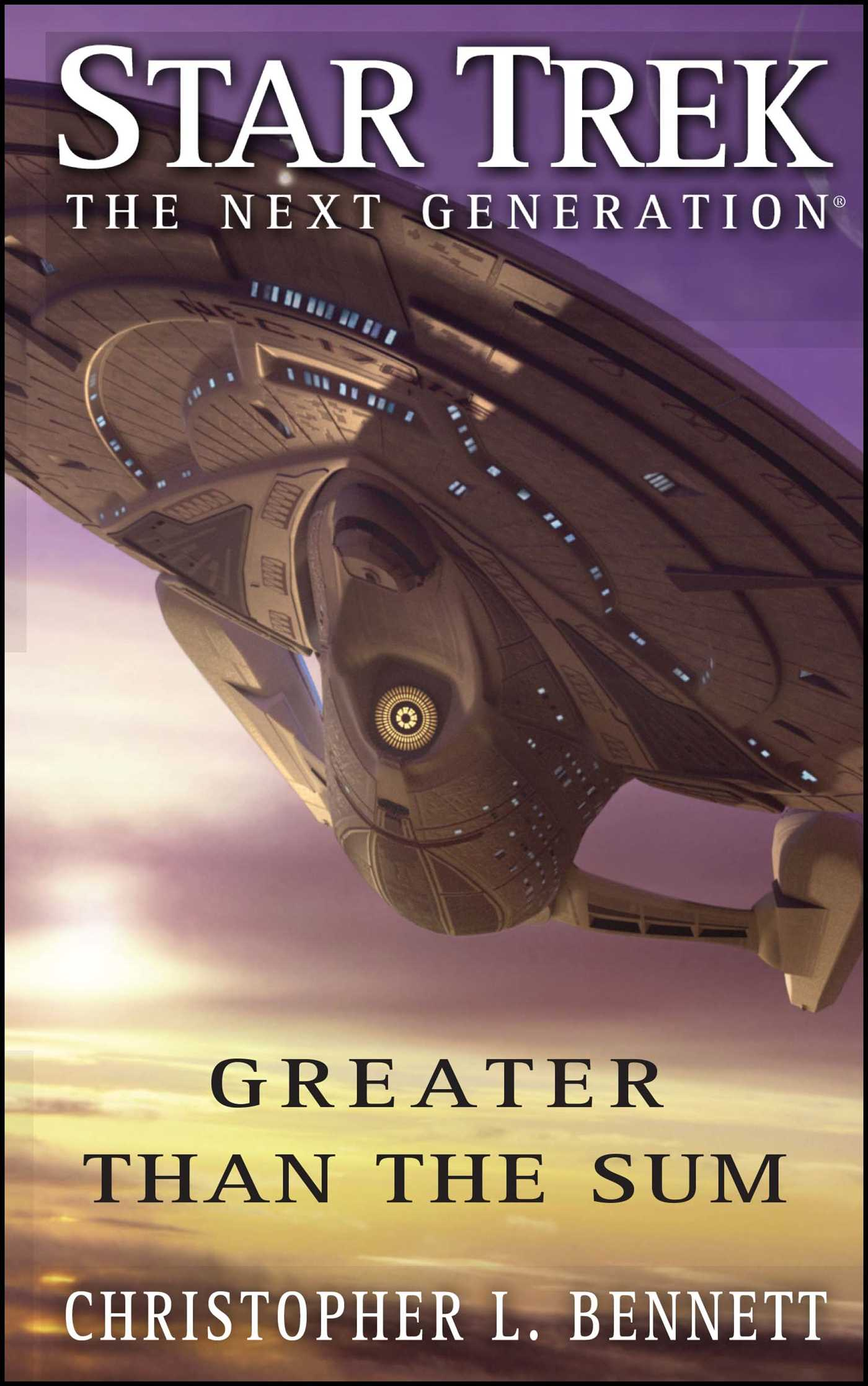 Star trek the next generation greater than the sum 9781416572169 hr