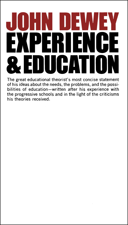 experience and education ebook by john dewey