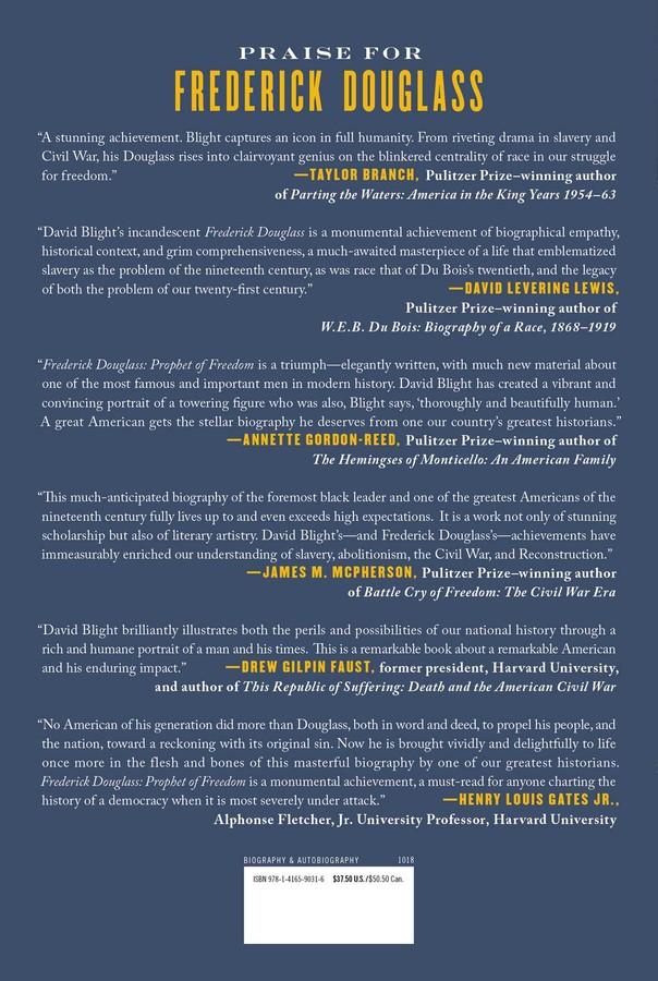 Frederick Douglass | Book by David W  Blight | Official