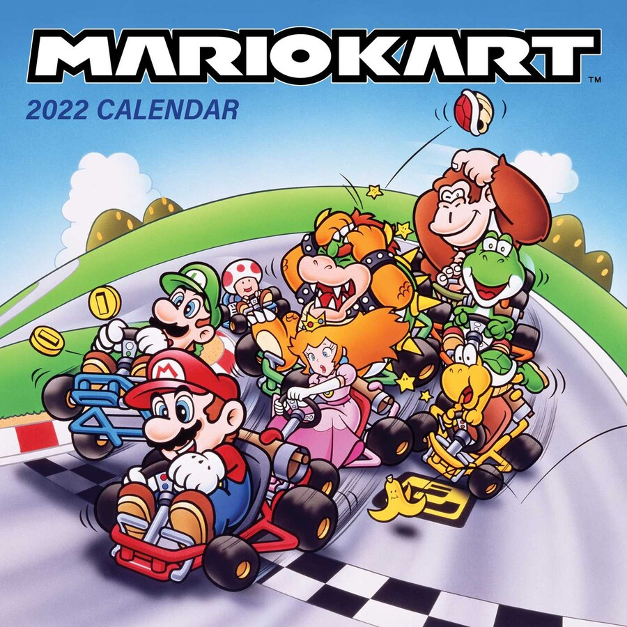 Coin Show Calendar 2022.Mario Kart 2022 Wall Calendar Book Summary Video Official Publisher Page Simon Schuster