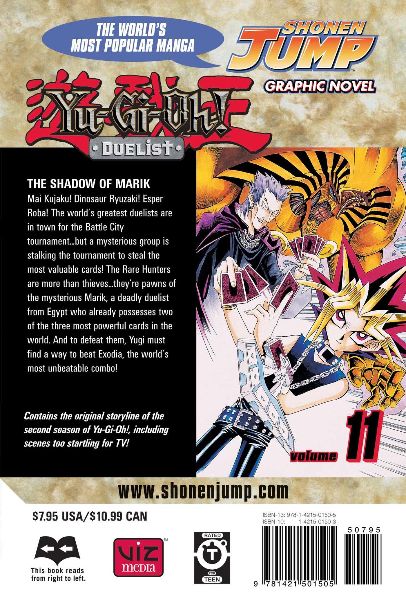 Yu gi oh duelist vol 11 9781421501505 hr back