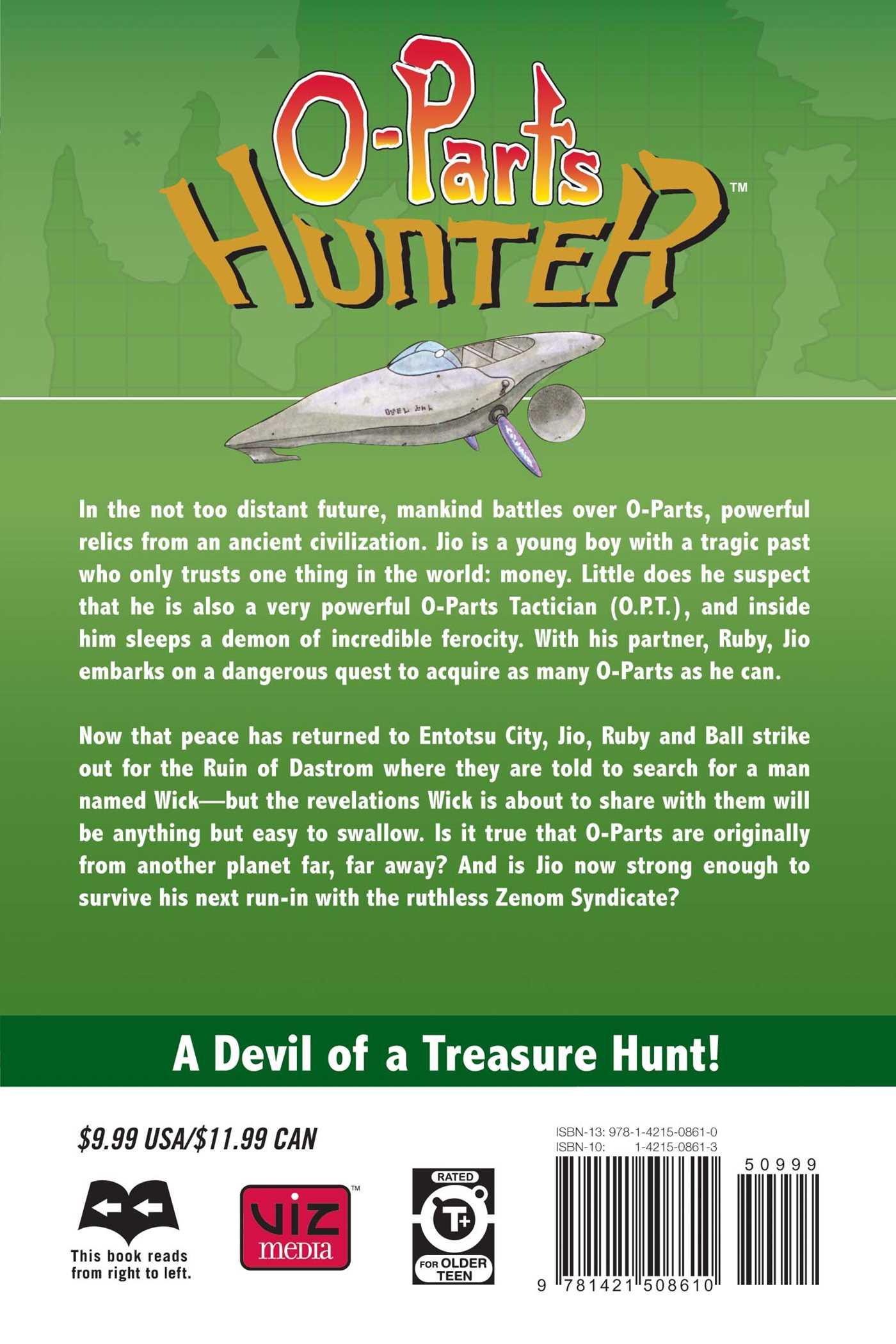 O parts hunter vol 7 9781421508610 hr back