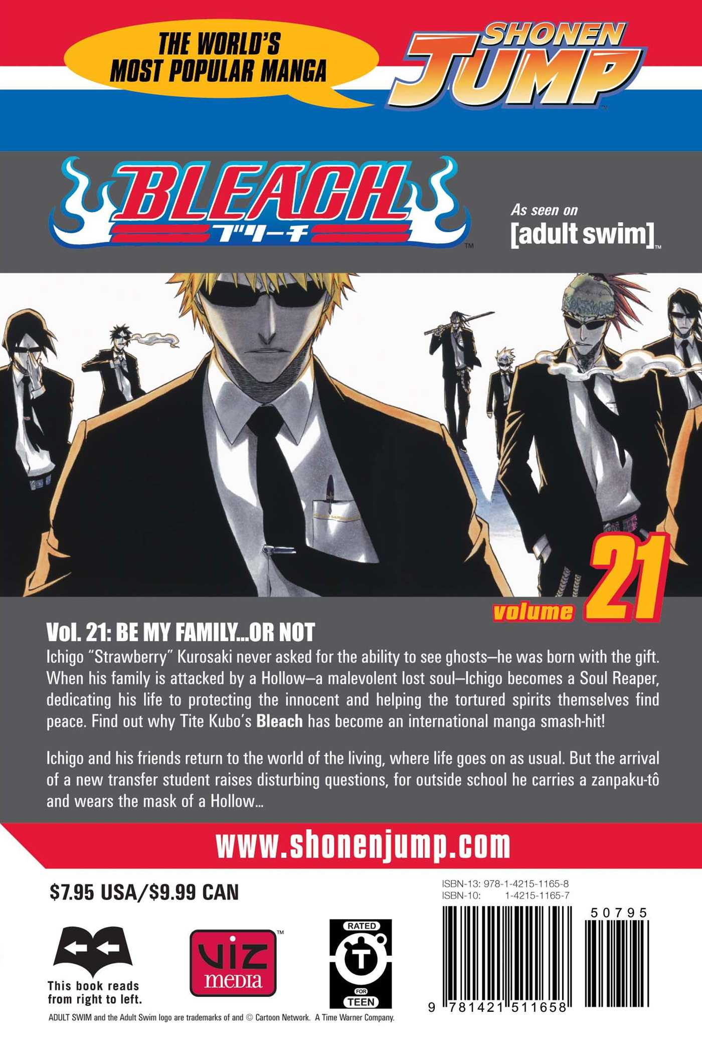 ... Bleach Vol 21 9781421511658 Hr Back